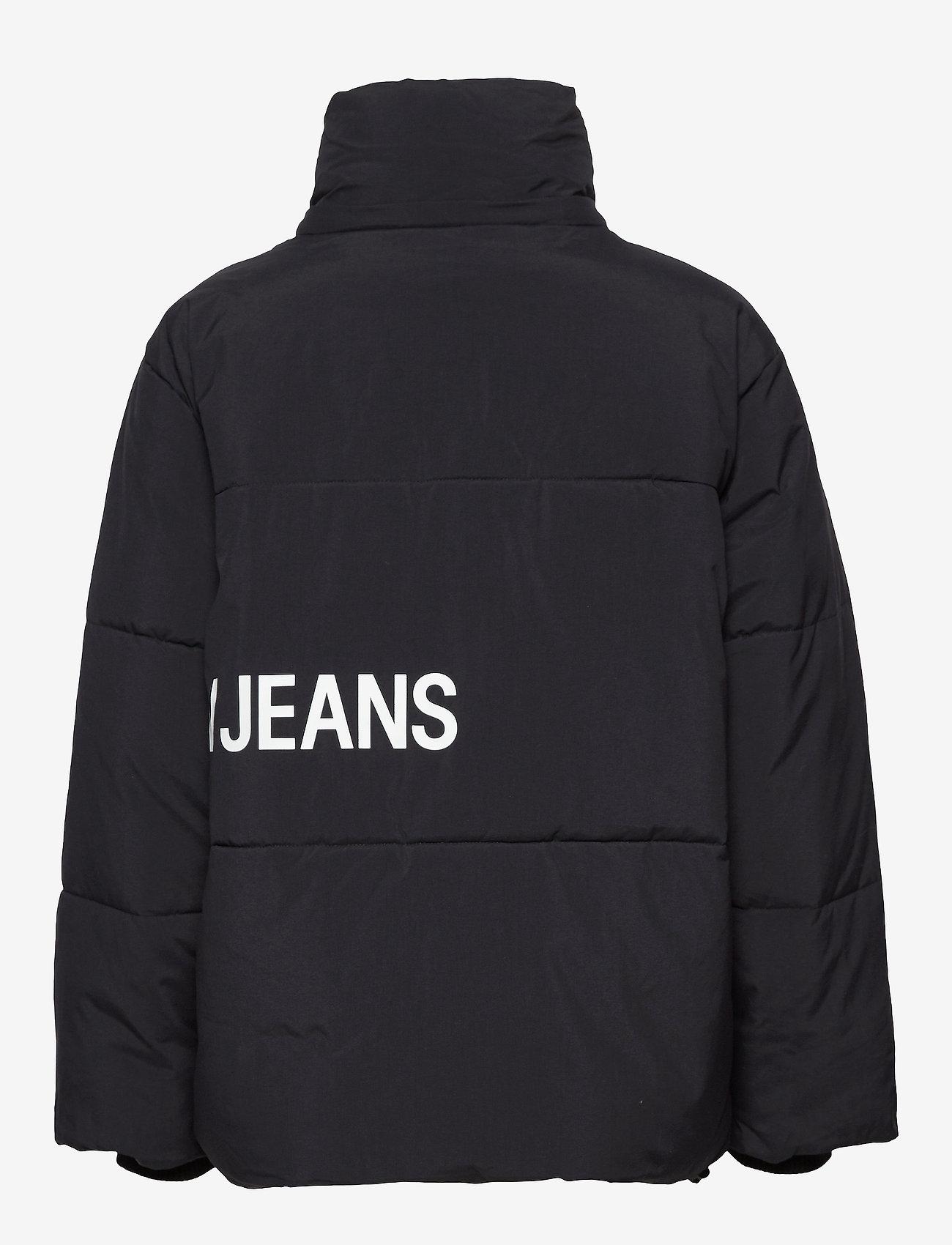 Calvin Klein Jeans OVERSIZED LOGO PUFFER - Kurtki i Płaszcze CK BLACK - Kobiety Odzież.