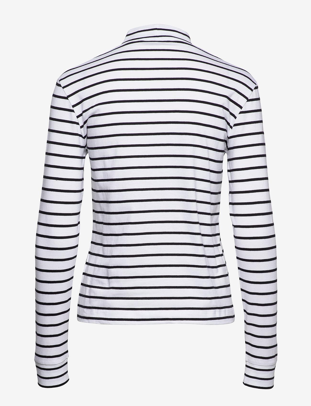 Calvin Klein Jeans Mock Neck Ls Tee - T-shirts & Tops