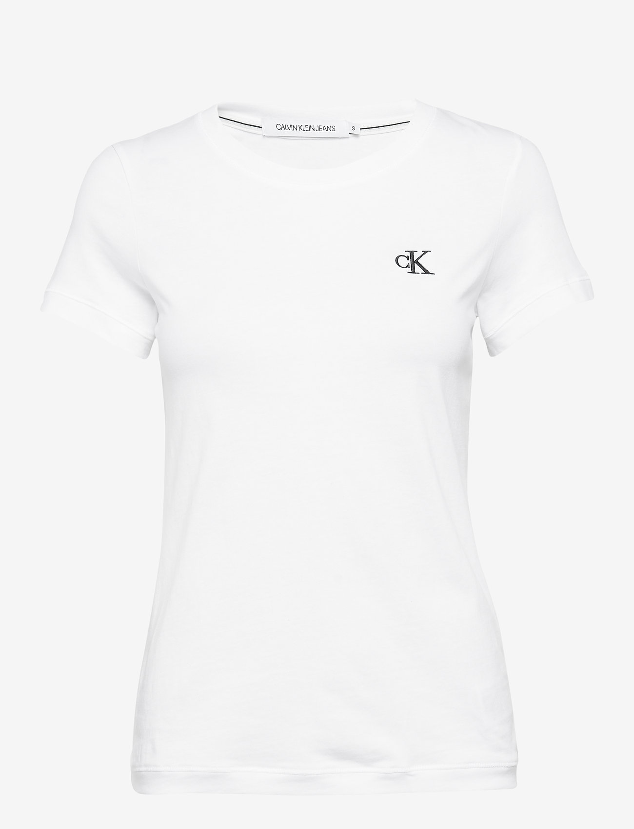 Calvin Klein Jeans - CK EMBROIDERY SLIM TEE - t-shirts - bright white - 0