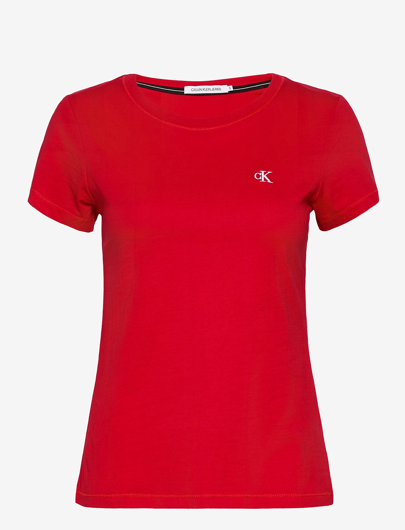 Calvin Klein Jeans - CK EMBROIDERY SLIM TEE - t-shirts - red hot - 0