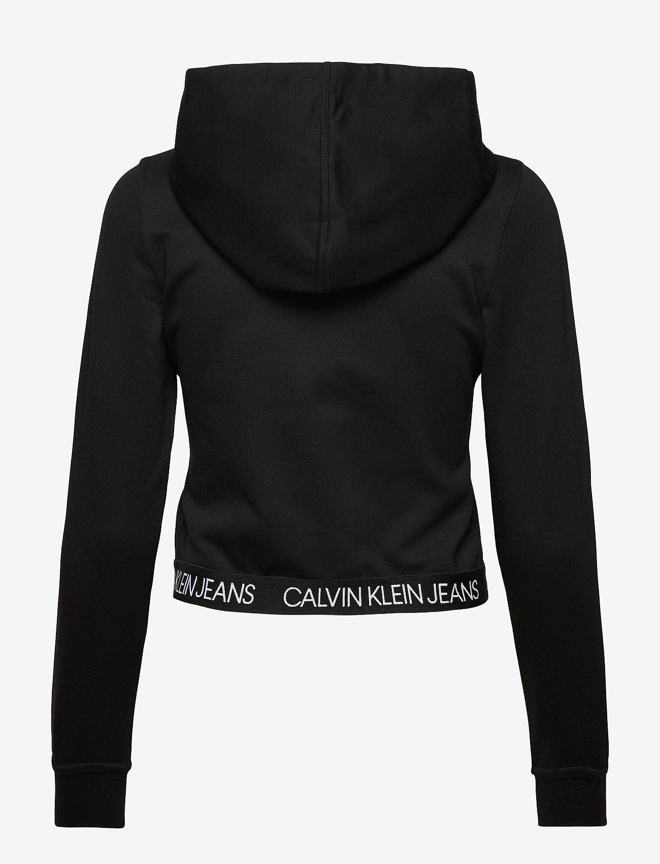 Calvin Klein Jeans - LOGO ELASTIC MILANO HOODIE - hettegensere - ck black - 1