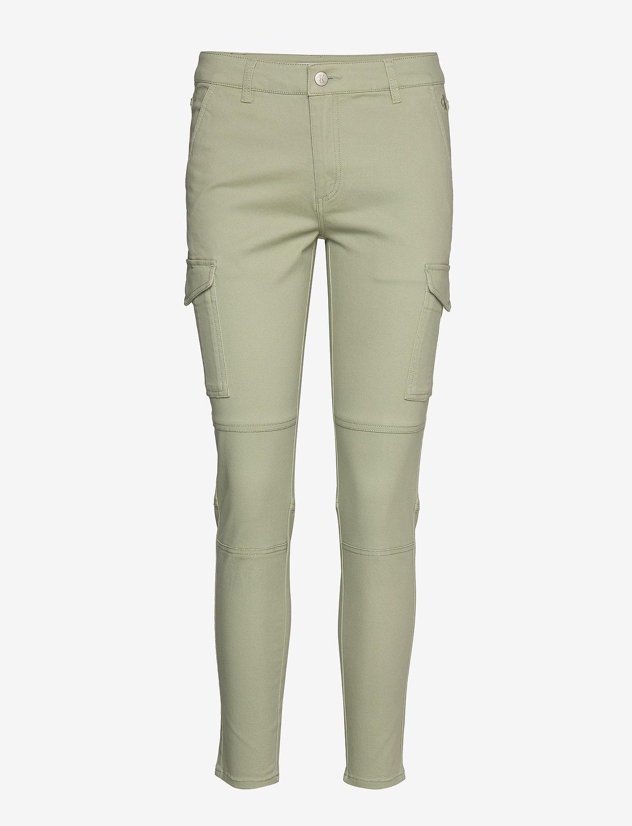 Calvin Klein Jeans - SKINNY CARGO PANTS - broeken med skinny fit - earth sage - 0