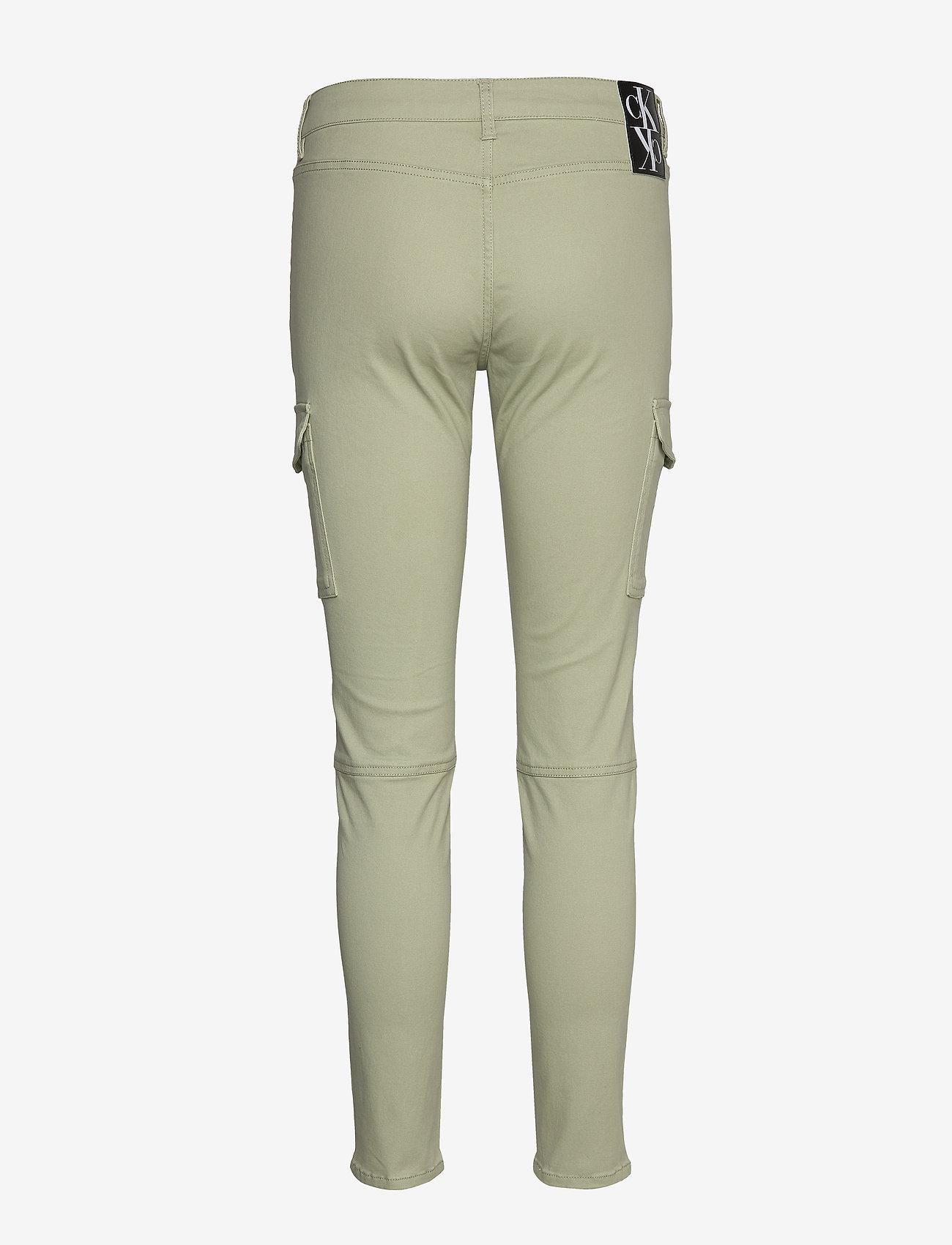 Calvin Klein Jeans - SKINNY CARGO PANTS - broeken med skinny fit - earth sage - 1