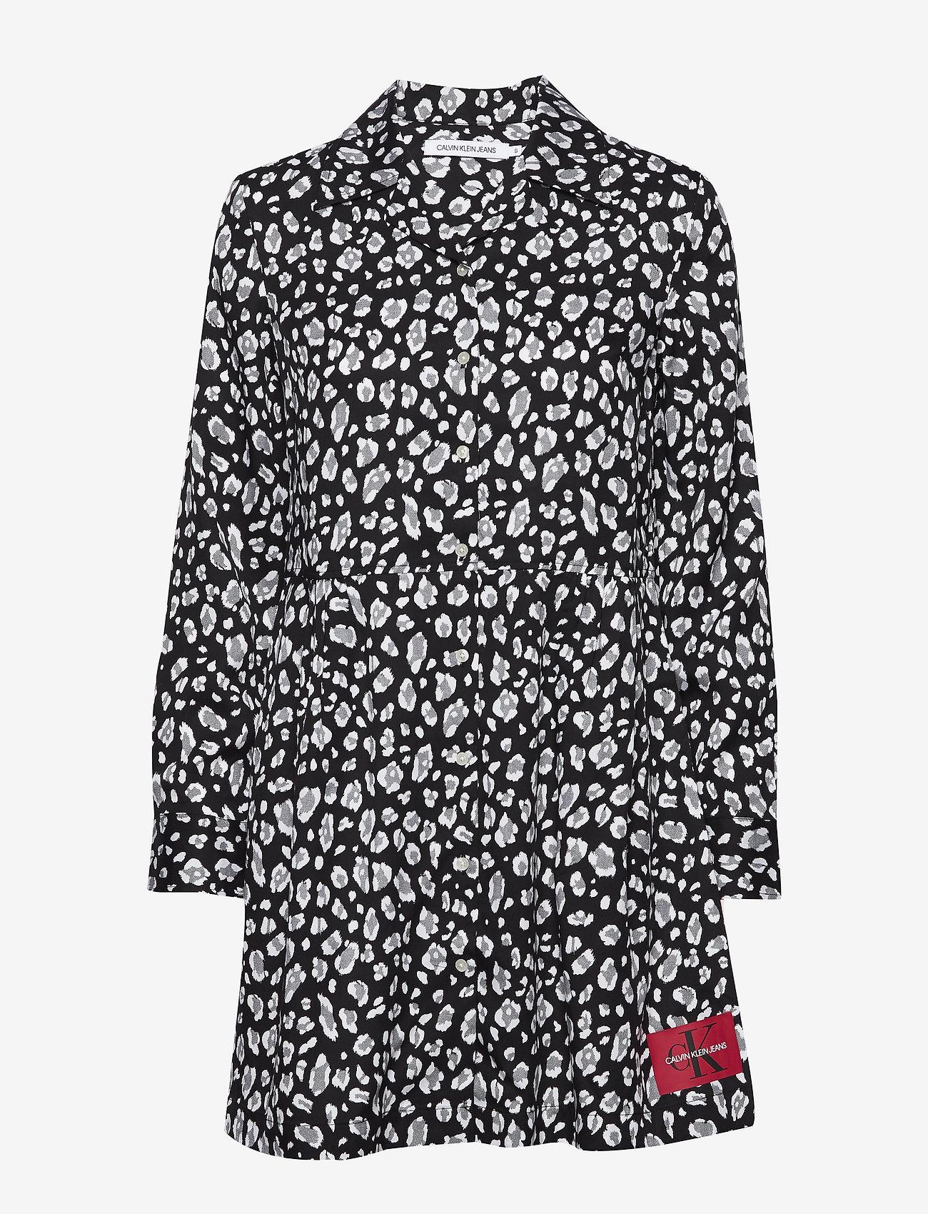 Calvin Klein Jeans - ANIMAL PRINT DINER DRESS - hverdagskjoler - leo print - 0