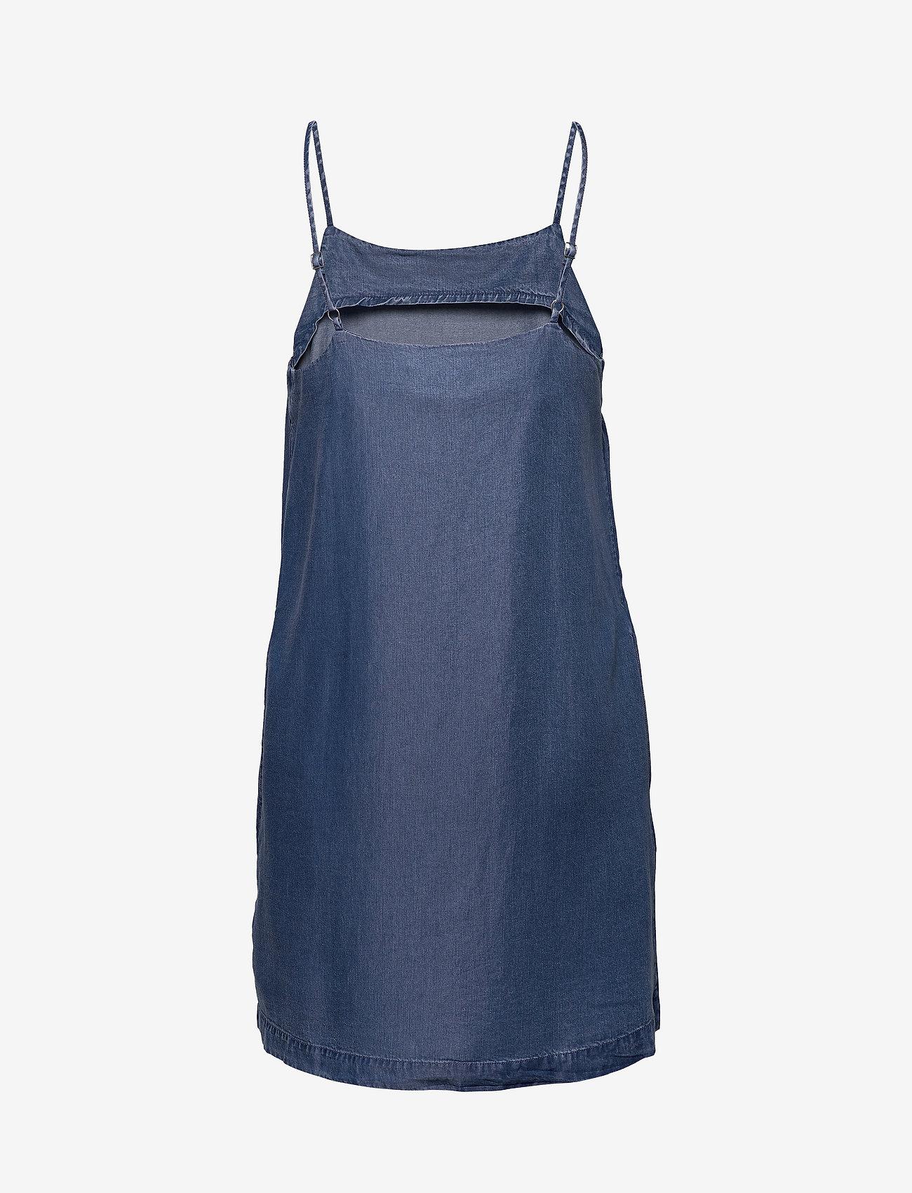 Calvin Klein Jeans - INDIGO TENCEL SLIP DRESS - korte kjoler - mid indigo - 1