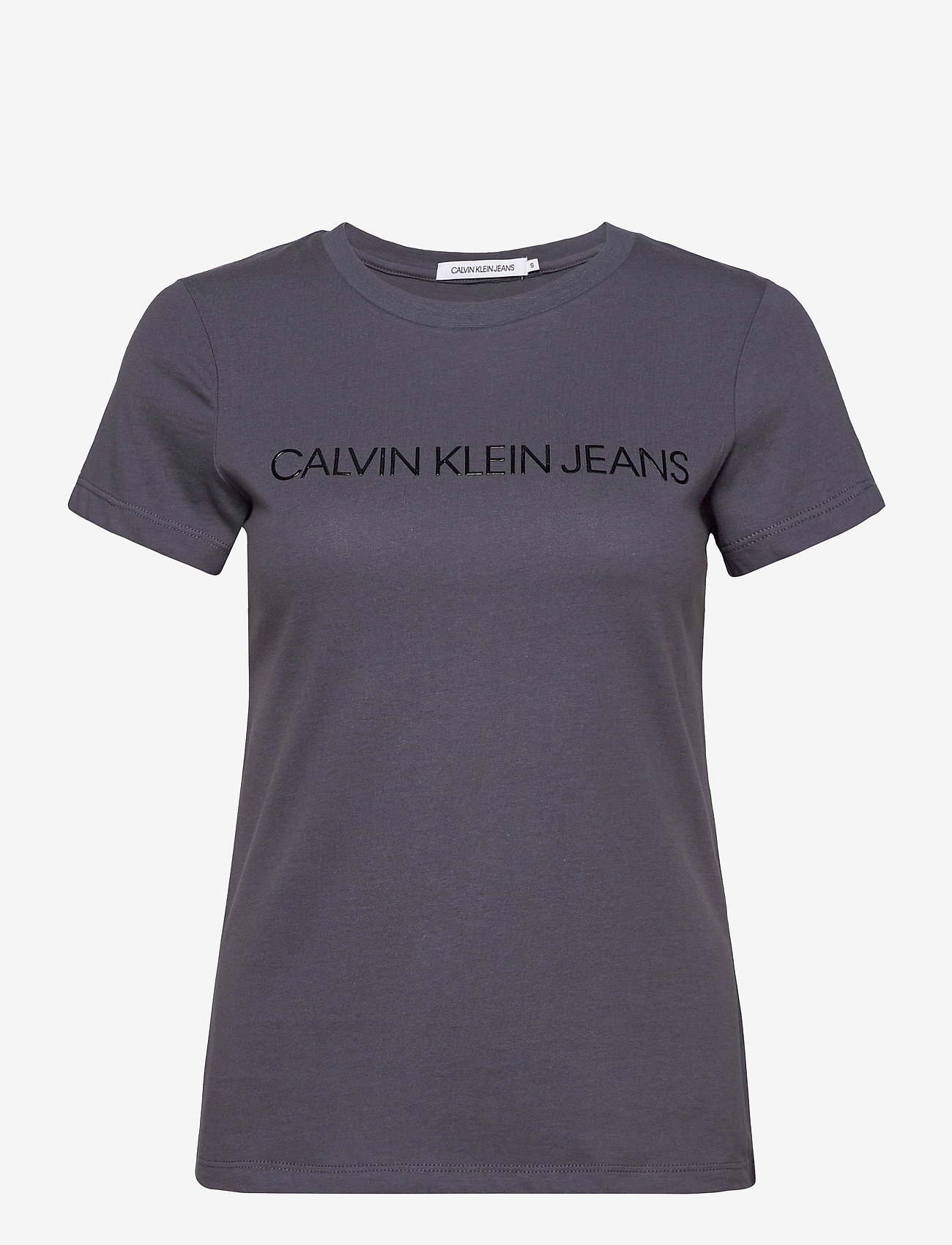 Calvin Klein Jeans - INSTITUTIONAL LOGO SLIM FIT TEE - t-shirts - abstract grey - 0
