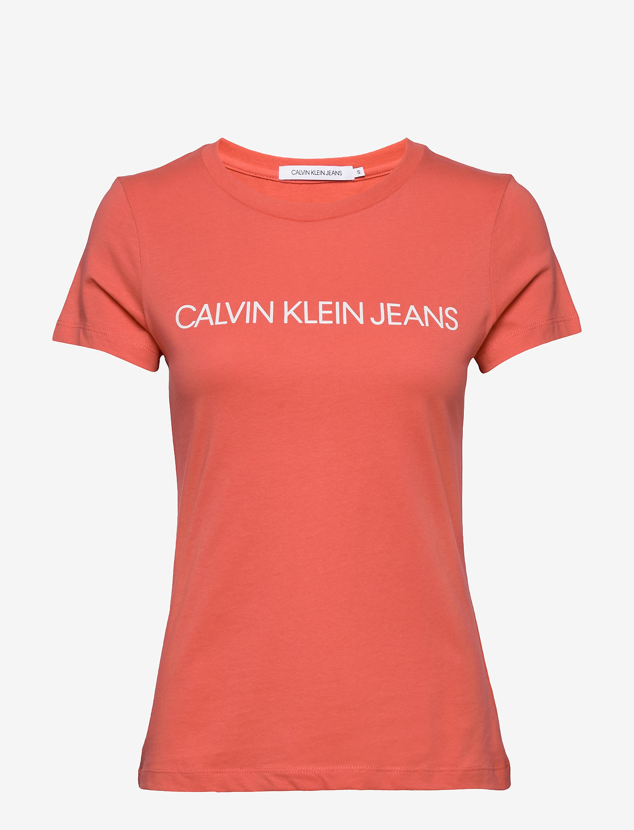 Calvin Klein Jeans - INSTITUTIONAL LOGO SLIM FIT TEE - t-shirts - island punch - 0