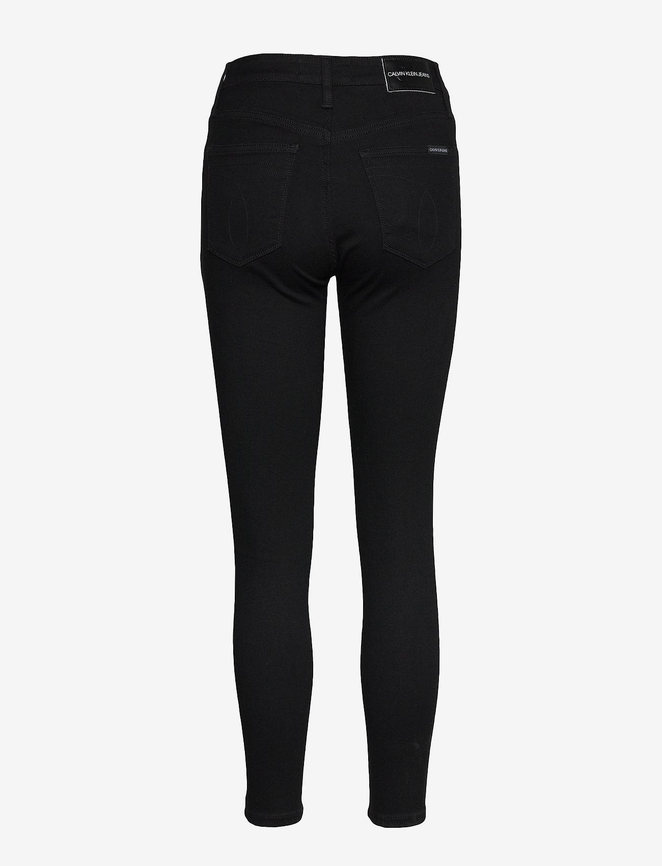 Calvin Klein Jeans - HIGH RISE SUPER SKINNY ANKLE - skinny jeans - da091 clean black shank - 1