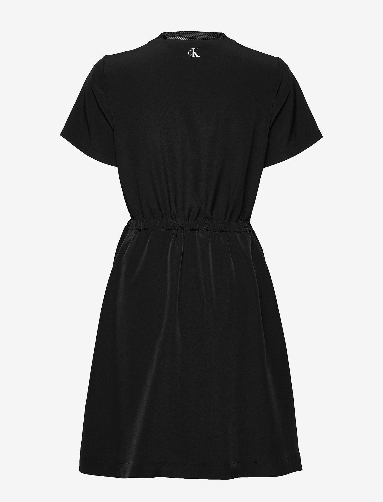 Calvin Klein Jeans BRANDED DRAW CORDS W - Sukienki CK BLACK - Kobiety Odzież.