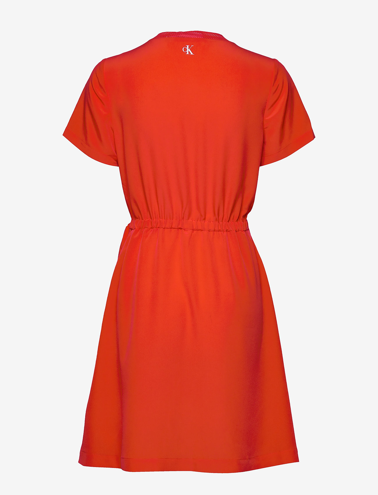 Calvin Klein Jeans BRANDED DRAW CORDS W - Sukienki FIERY RED - Kobiety Odzież.