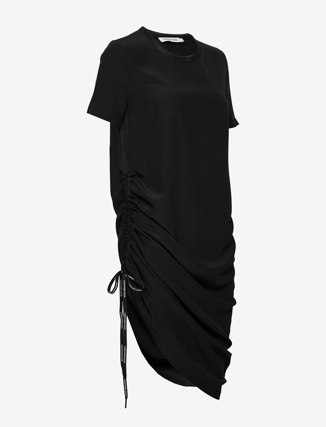 Calvin Klein Jeans SS DRAPEY DRESS WITH - Dresses CK BLACK