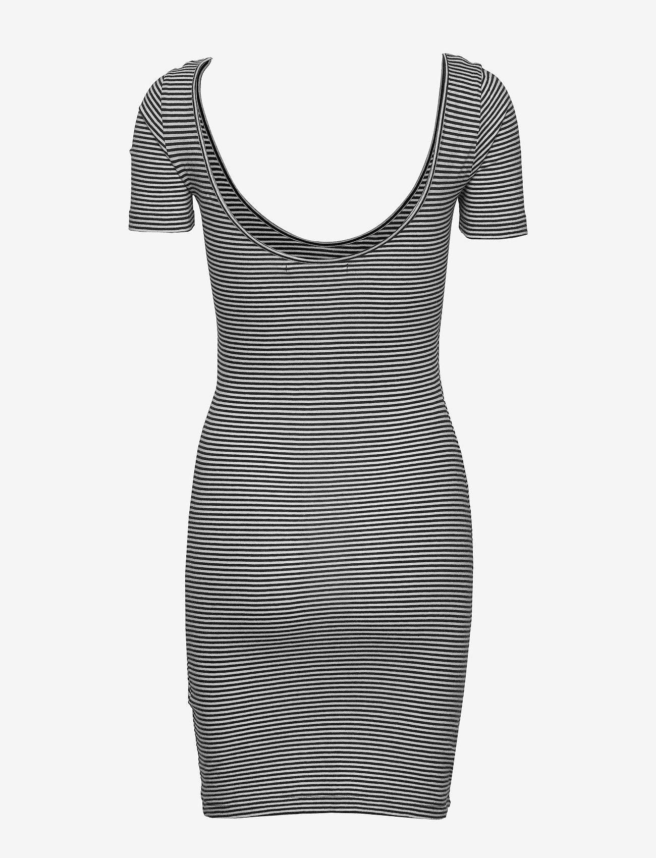 Calvin Klein Jeans - MONOGRAM STRIPE BALLET DRESS - t-skjortekjoler - bright white / ck black - 1