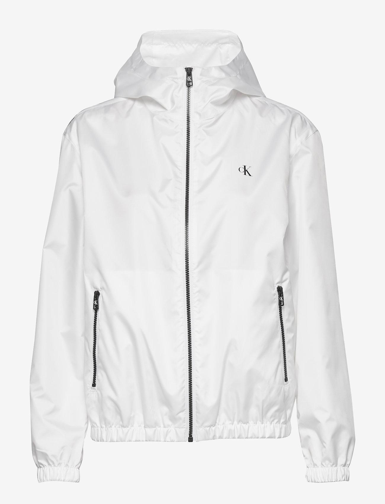 Calvin Klein Jeans - LARGE CK LOGO HOODED - kevyet takit - bright white - 1