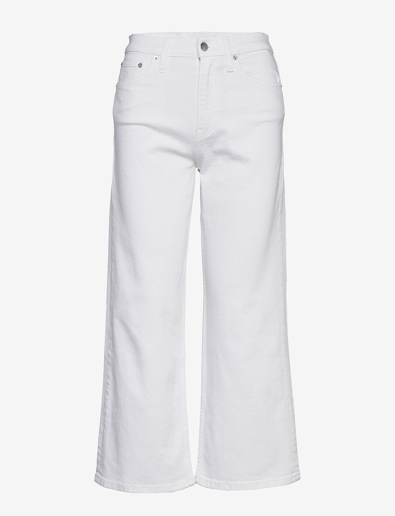 Calvin Klein Jeans - WIDE LEG - flared jeans - da085 white - 0