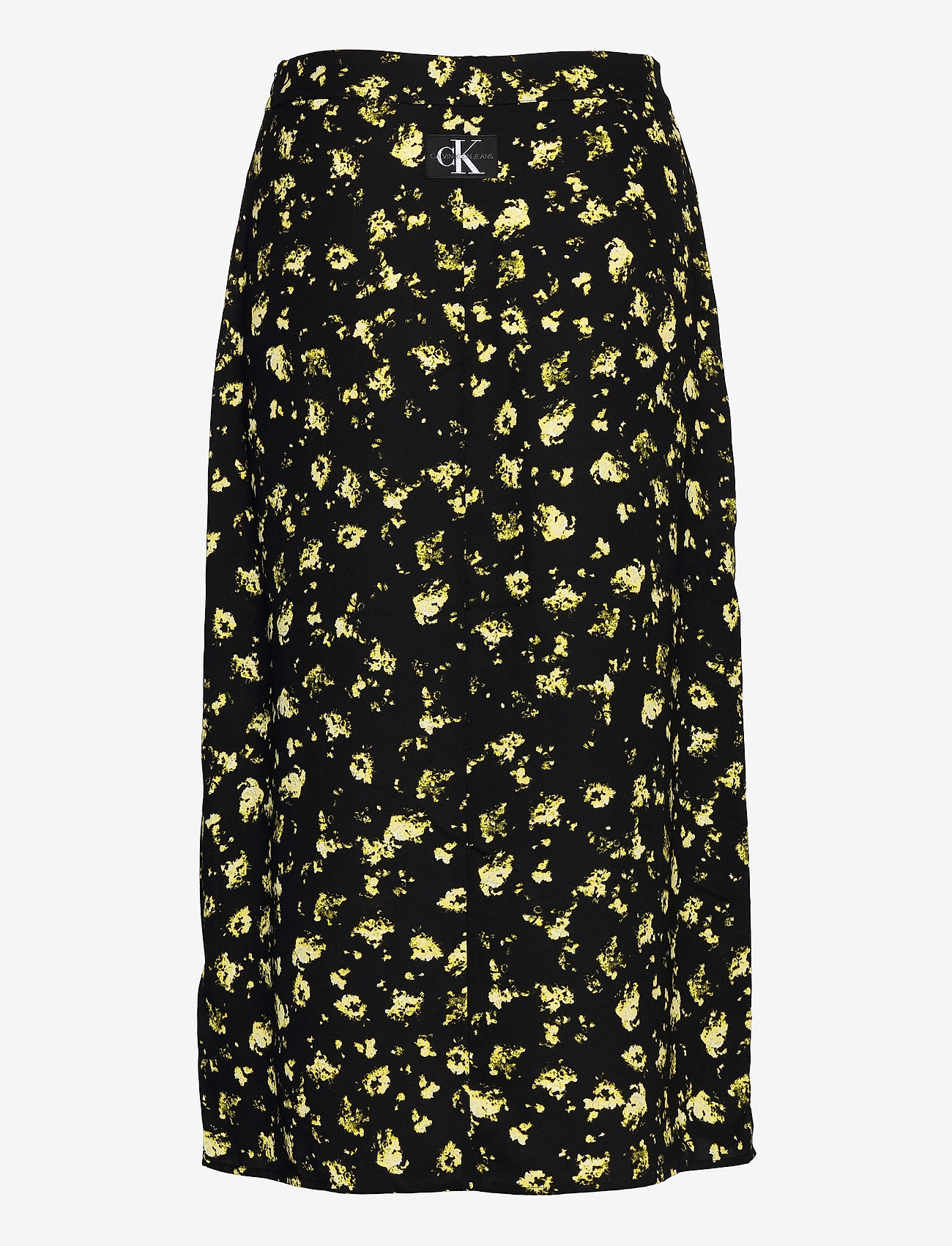 Calvin Klein Jeans - FLORAL MIDI SKIRT - midi skjørt - black grungy halftone yellow f - 1