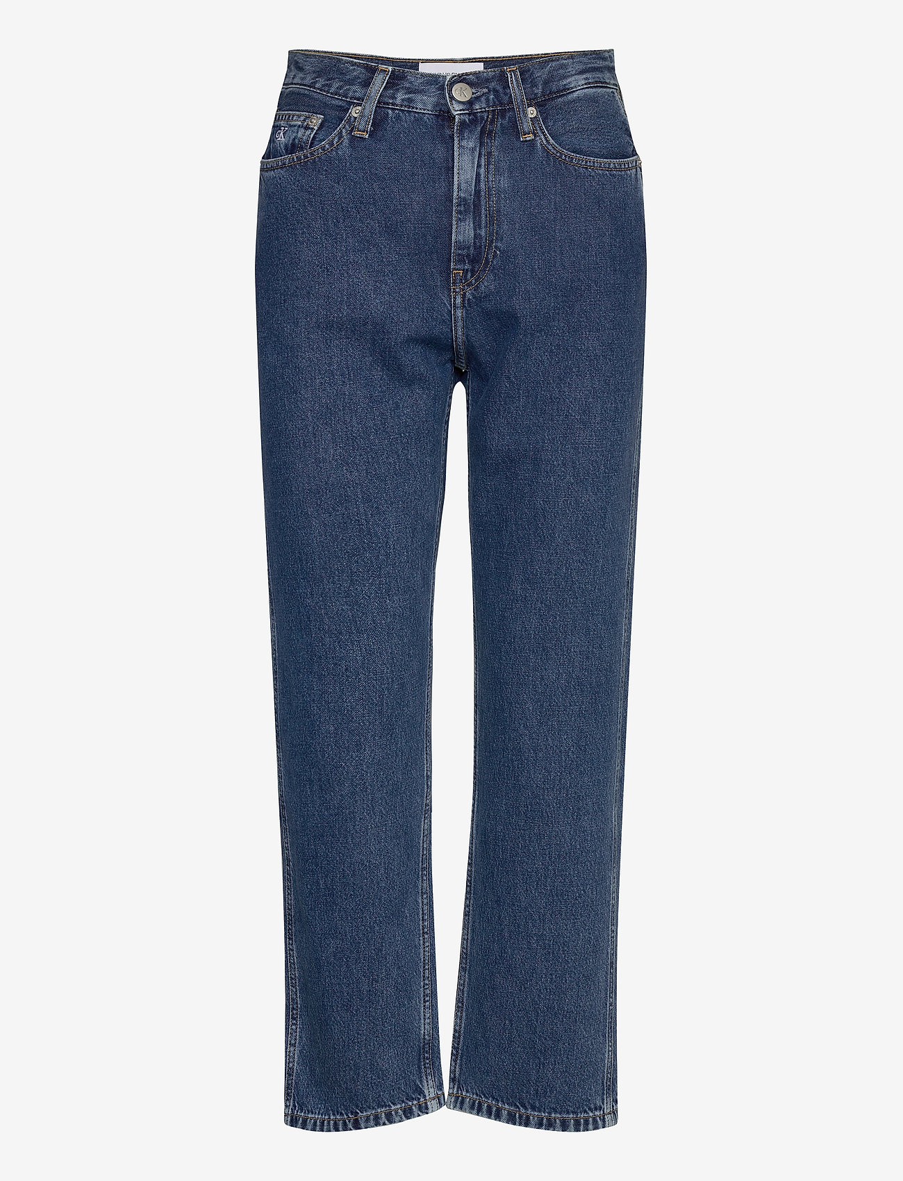 Calvin Klein Jeans - CKJ 030 HIGH RISE STRAIGHT ANKLE - mammajeans - ab076 icn light blue - 0