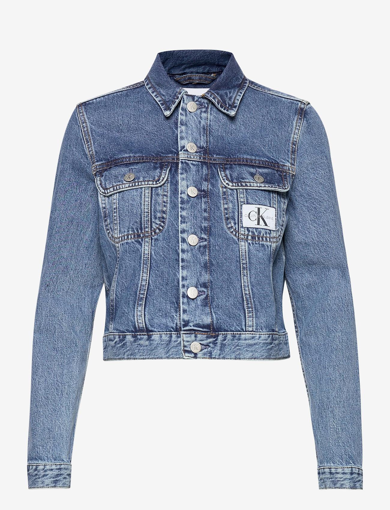 Calvin Klein Jeans - 90S CROP TRUCKER - jeansjakker - ab076 icn mid blue - 0