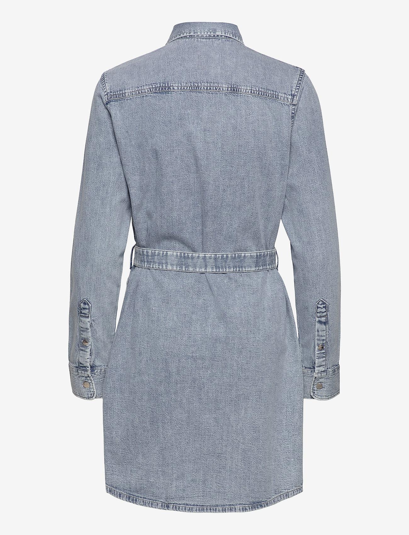 Calvin Klein Jeans - RELAXED SHIRT DRESS BELT - skjortekjoler - ab078 icn light blue belt - 1