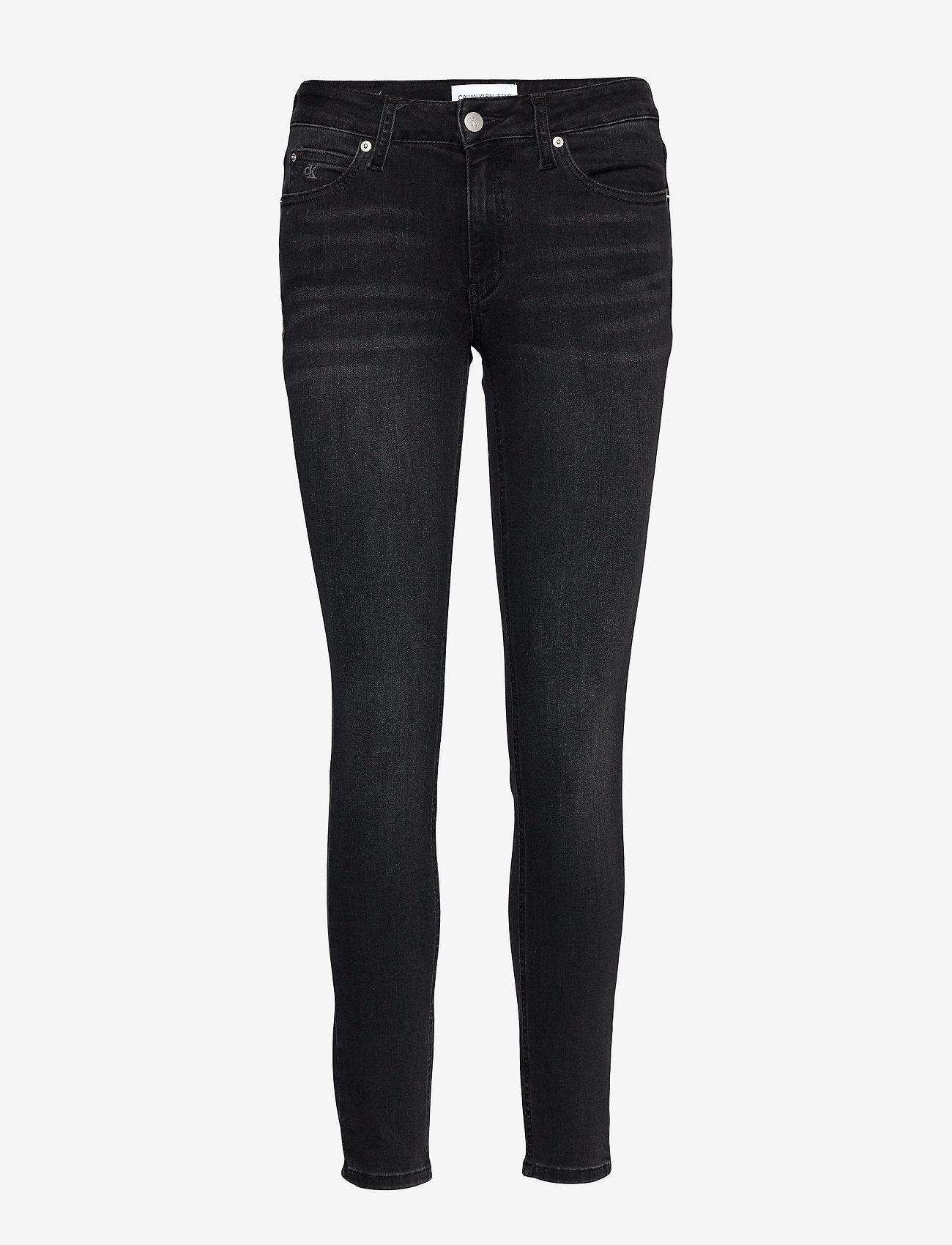 Calvin Klein Jeans - CKJ 011 MID RISE SKI - skinny jeans - zz002 washed black - 0