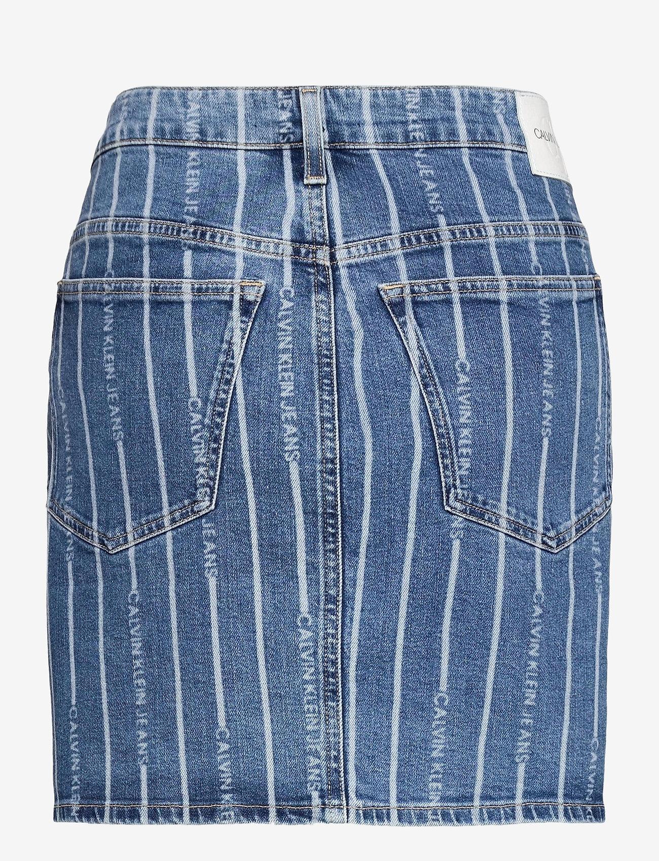 Calvin Klein Jeans - PLUS HIGH RISE MINI SKIRT - jeanskjolar - da149 light blue stripe - 1