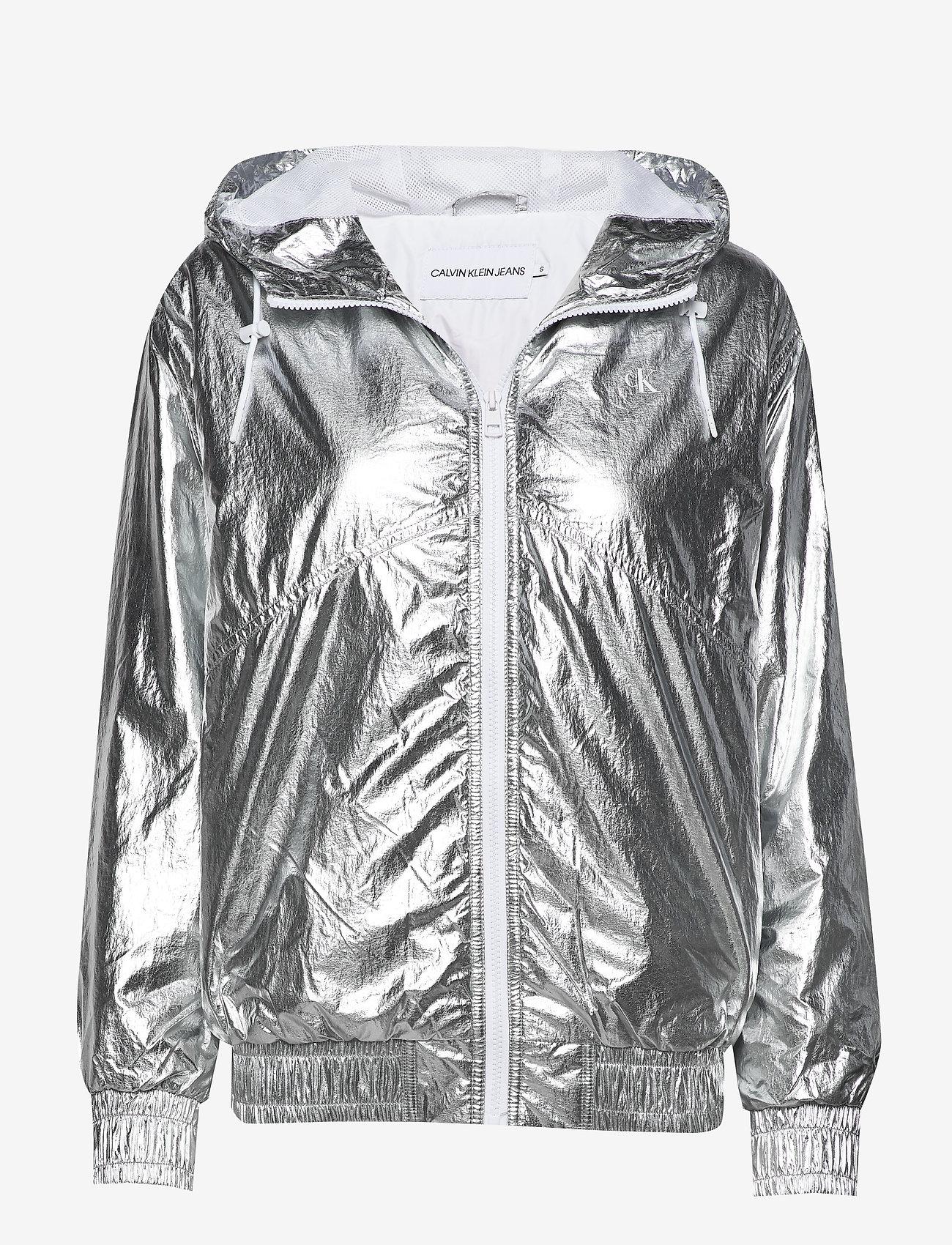 Calvin Klein Jeans - METALLIC WINDBREAKER - lichte jassen - silver metallic - 0