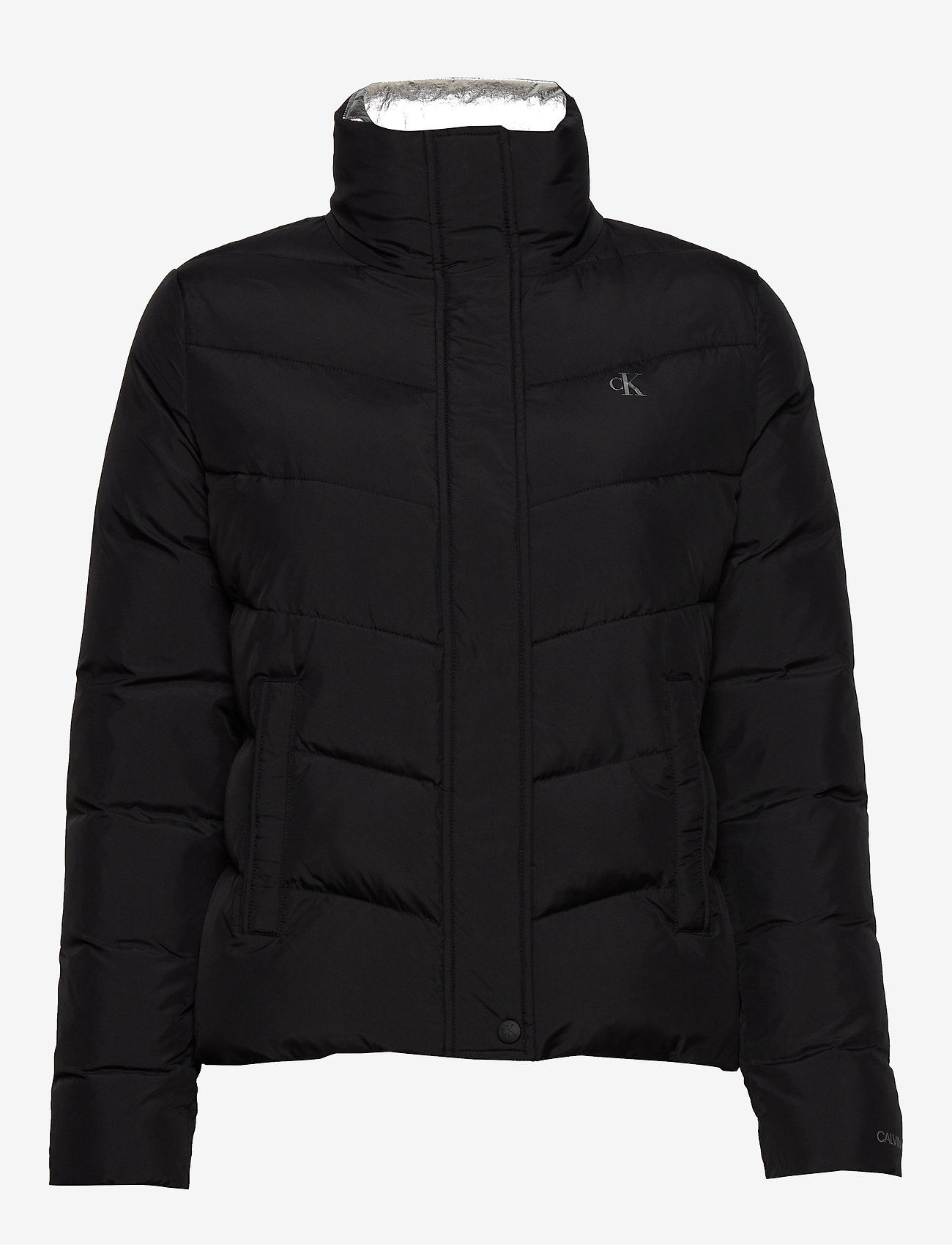 Calvin Klein Jeans - SLANTERED QUILTED FITTED JACKET - fôrede jakker - ck black - 1