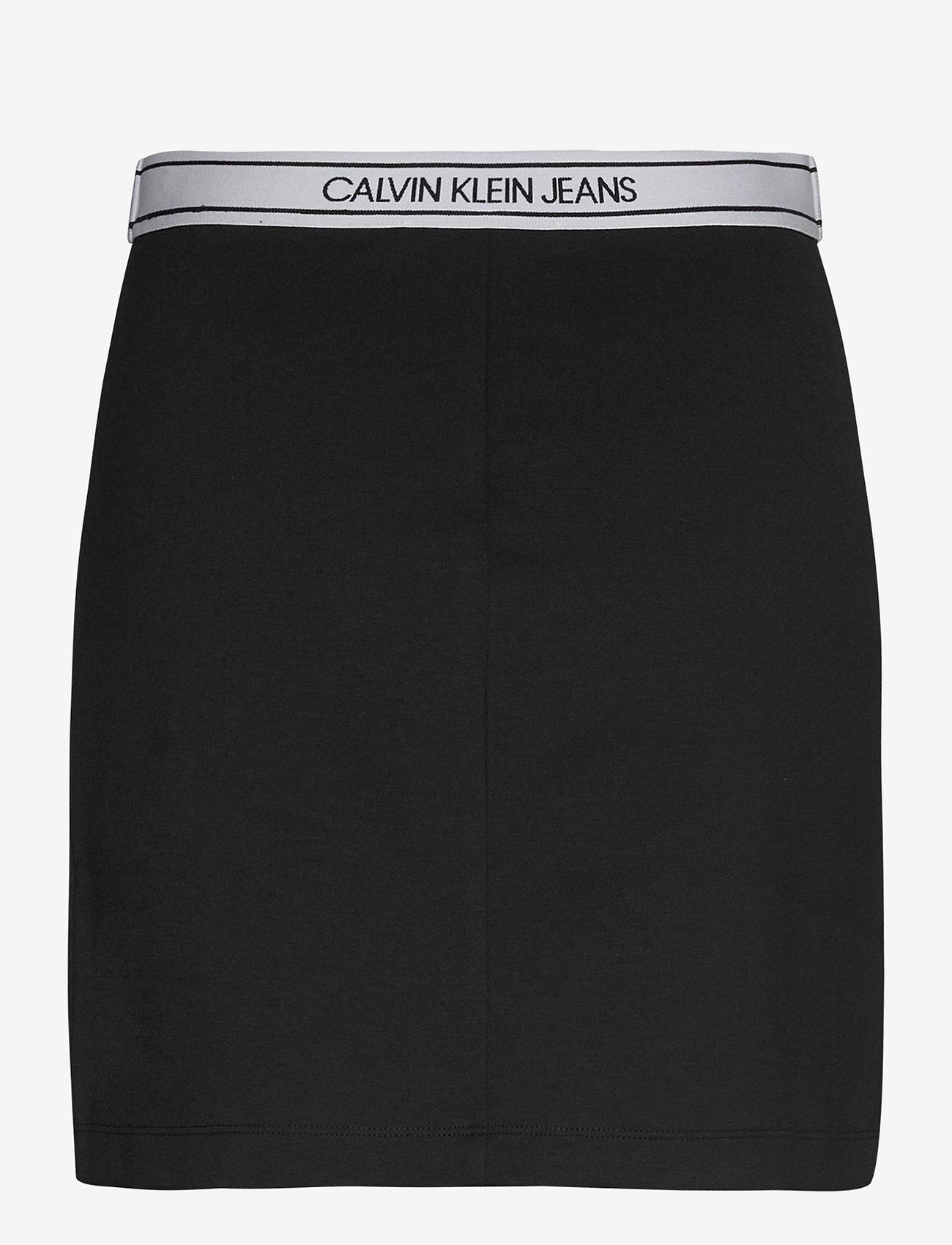 Calvin Klein Jeans - LOGO ELASTIC MILANO MINI SKIRT - kort skjørt - ck black - 1