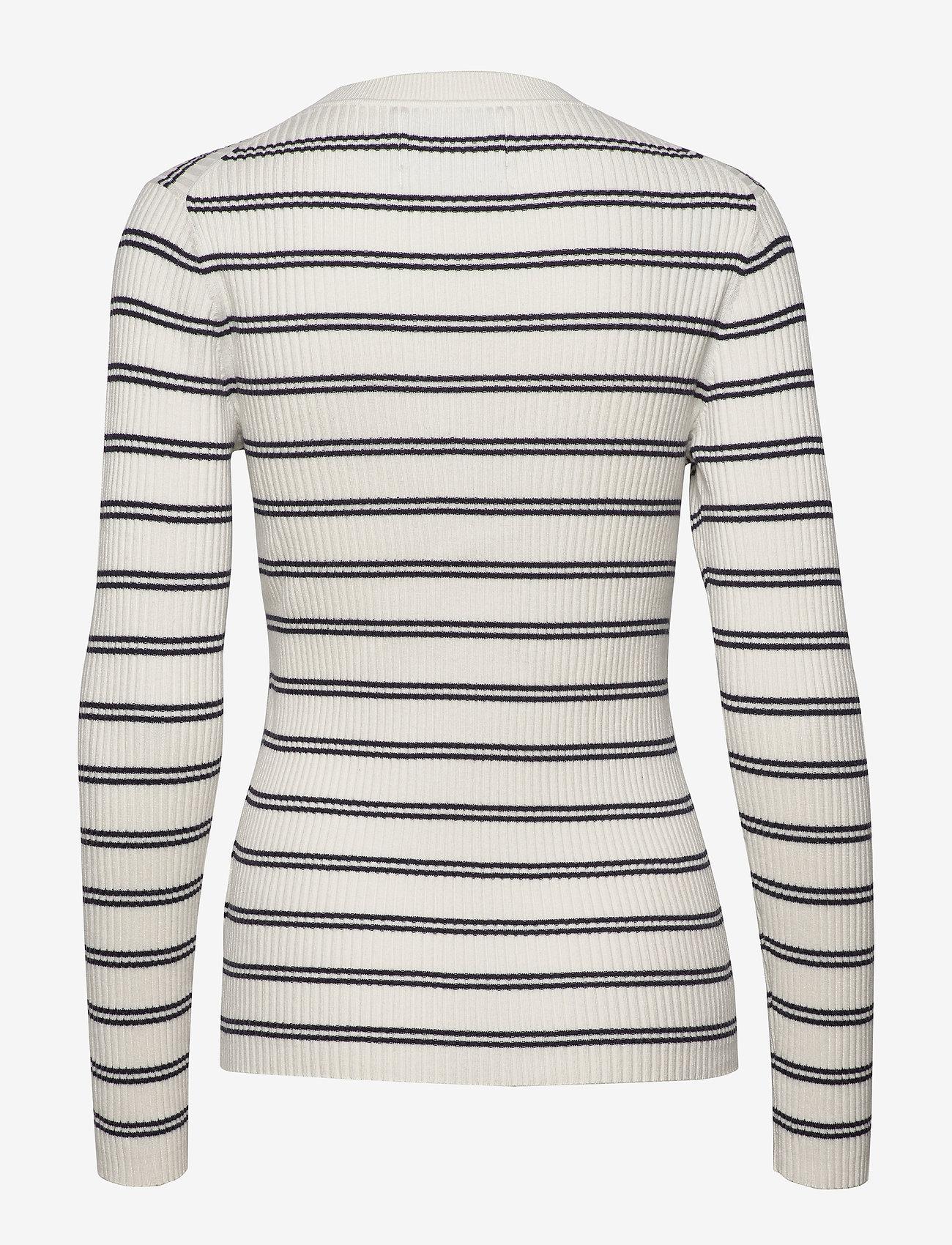 Stripe Rib Sweater (Creamy White) (1000 kr) - Calvin Klein Jeans