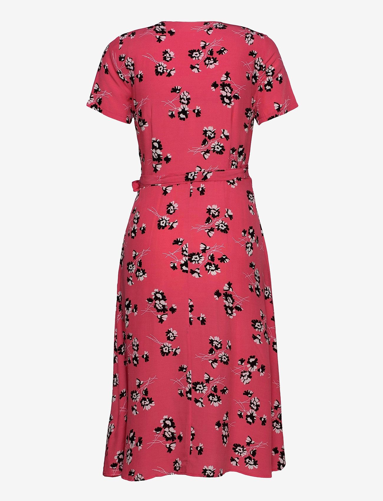 Calvin Klein Jeans - WRAP FLORAL DRESS - midi kjoler - island punch w/black spaced floral - 1