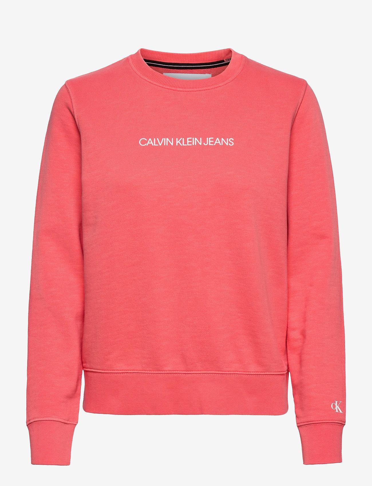 Calvin Klein Jeans - SHRUNKEN INSTITUTIONAL GMD CN - sweatshirts - island punch - 0