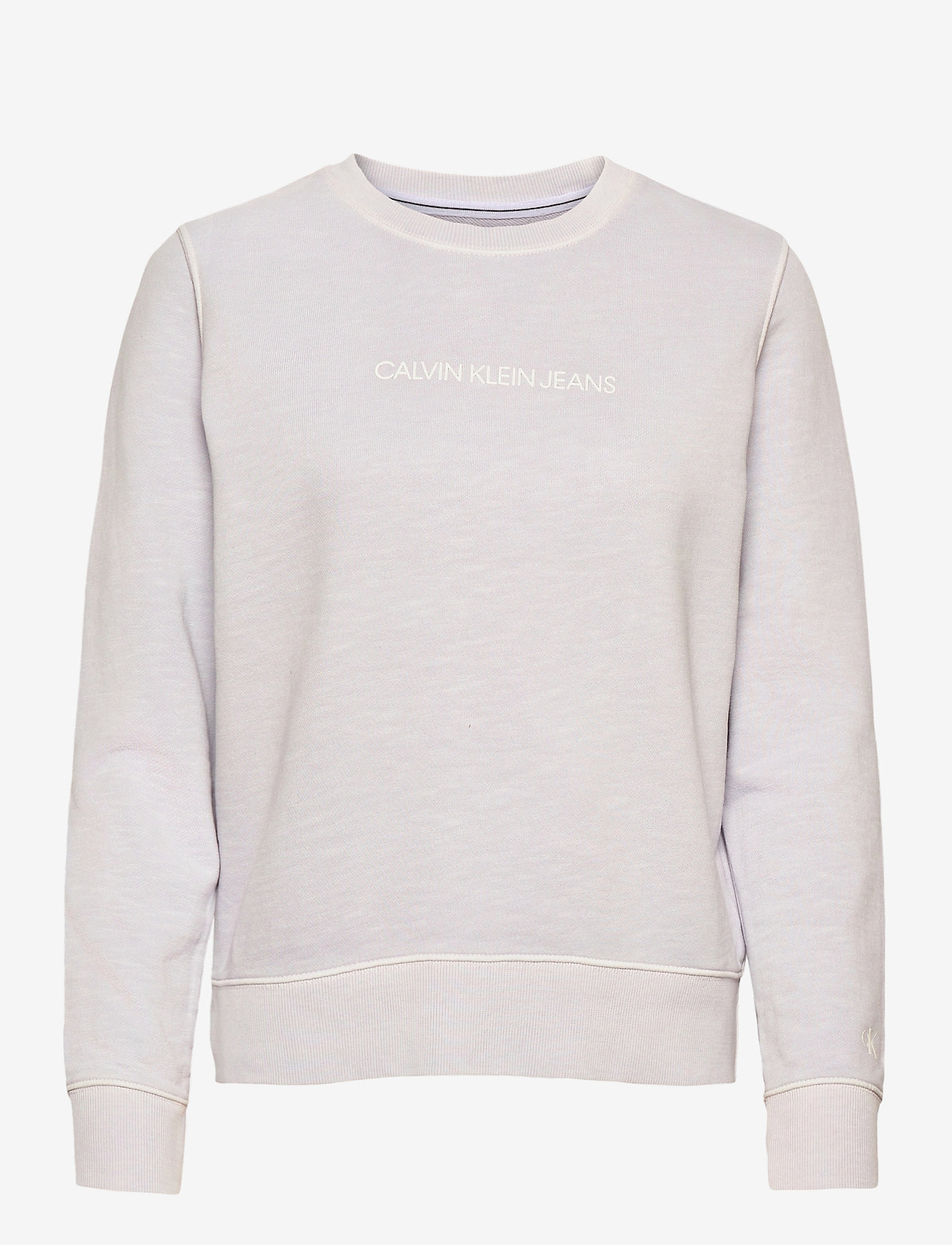 Calvin Klein Jeans - SHRUNKEN INSTITUTIONAL GMD CN - sweatshirts - orchid hush - 0