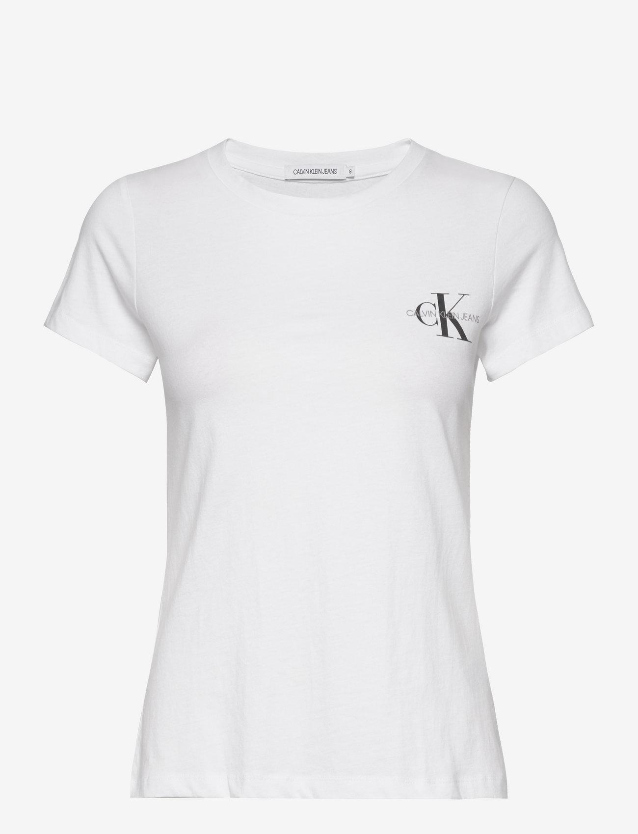 Calvin Klein Jeans - 2 PACK SLIM T-SHIRT - t-shirts - bright white / bright white - 1