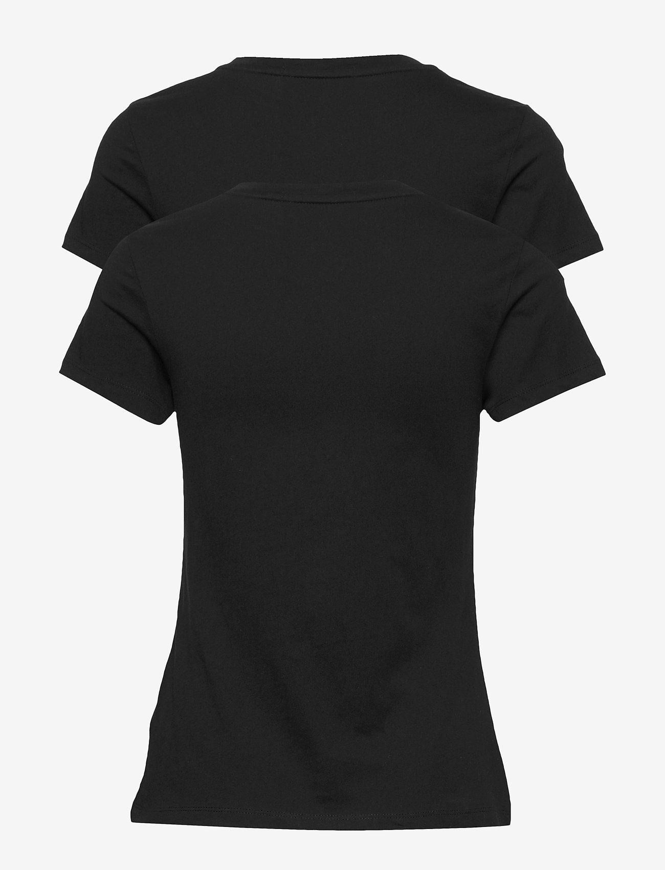 Calvin Klein Jeans - 2 PACK SLIM T-SHIRT - t-shirts - ck black / ck black - 1