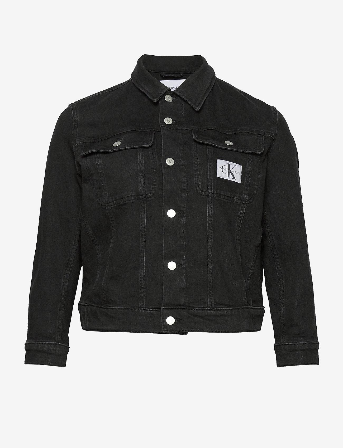 Calvin Klein Jeans - 90S TRUCKER - jeansjakker - ab099 washed black - 0