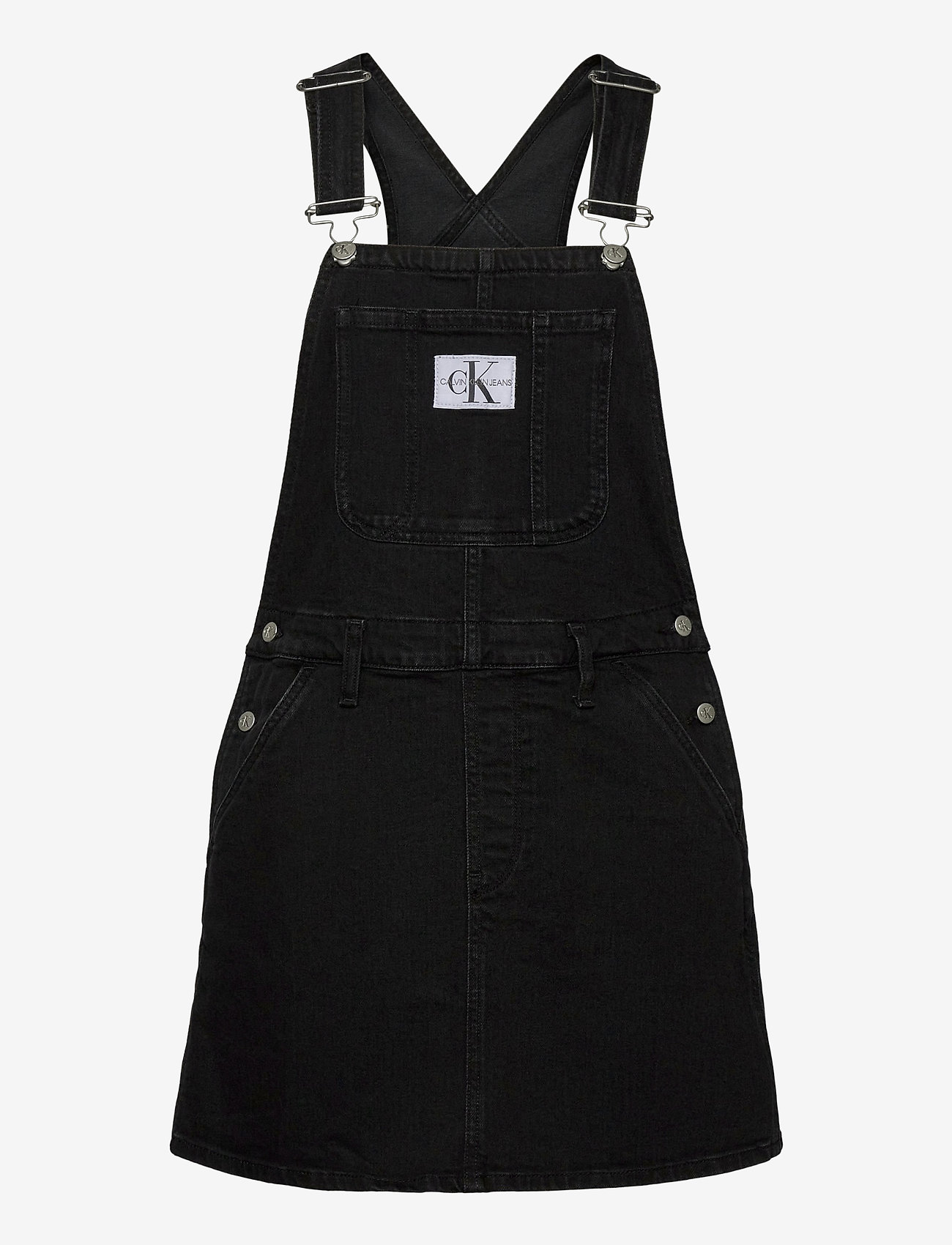 Calvin Klein Jeans - OVERALL DRESS - denimkjoler - ab117 washed black - 0