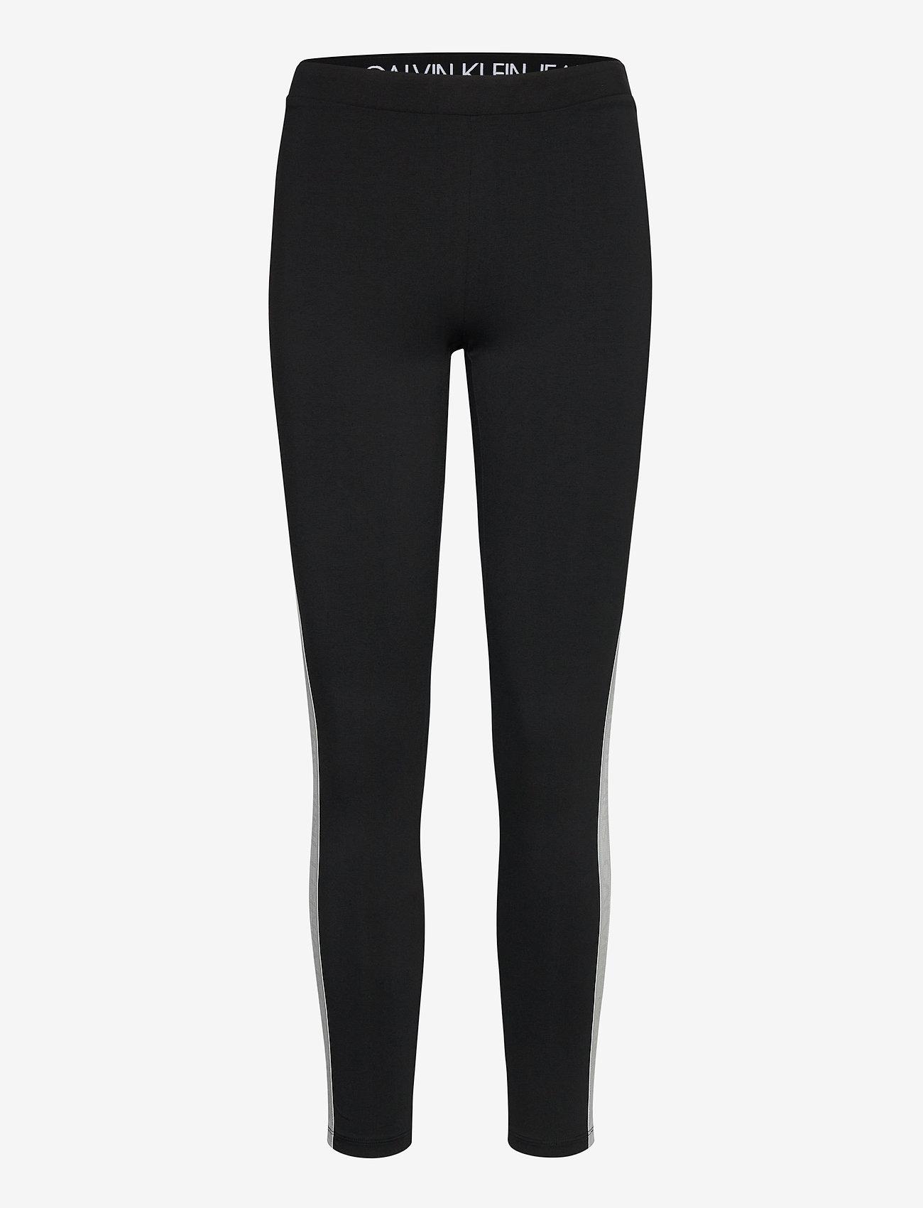 Calvin Klein Jeans - MESH TAPE LOGO LEGGING - ck black - 0