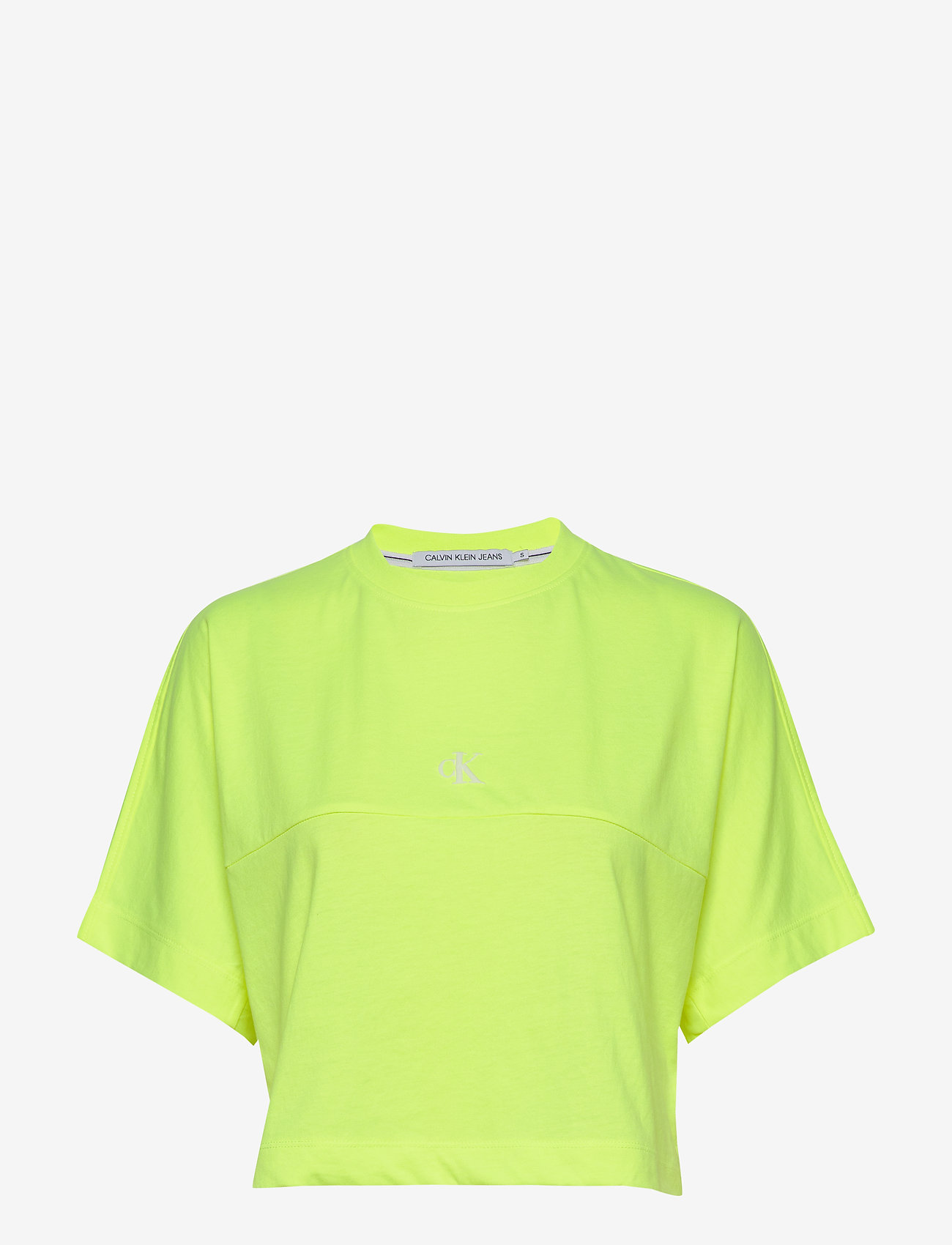 Calvin Klein Jeans - PUFF PRINT BACK LOGO T-SHIRT - crop tops - safety yellow - 0