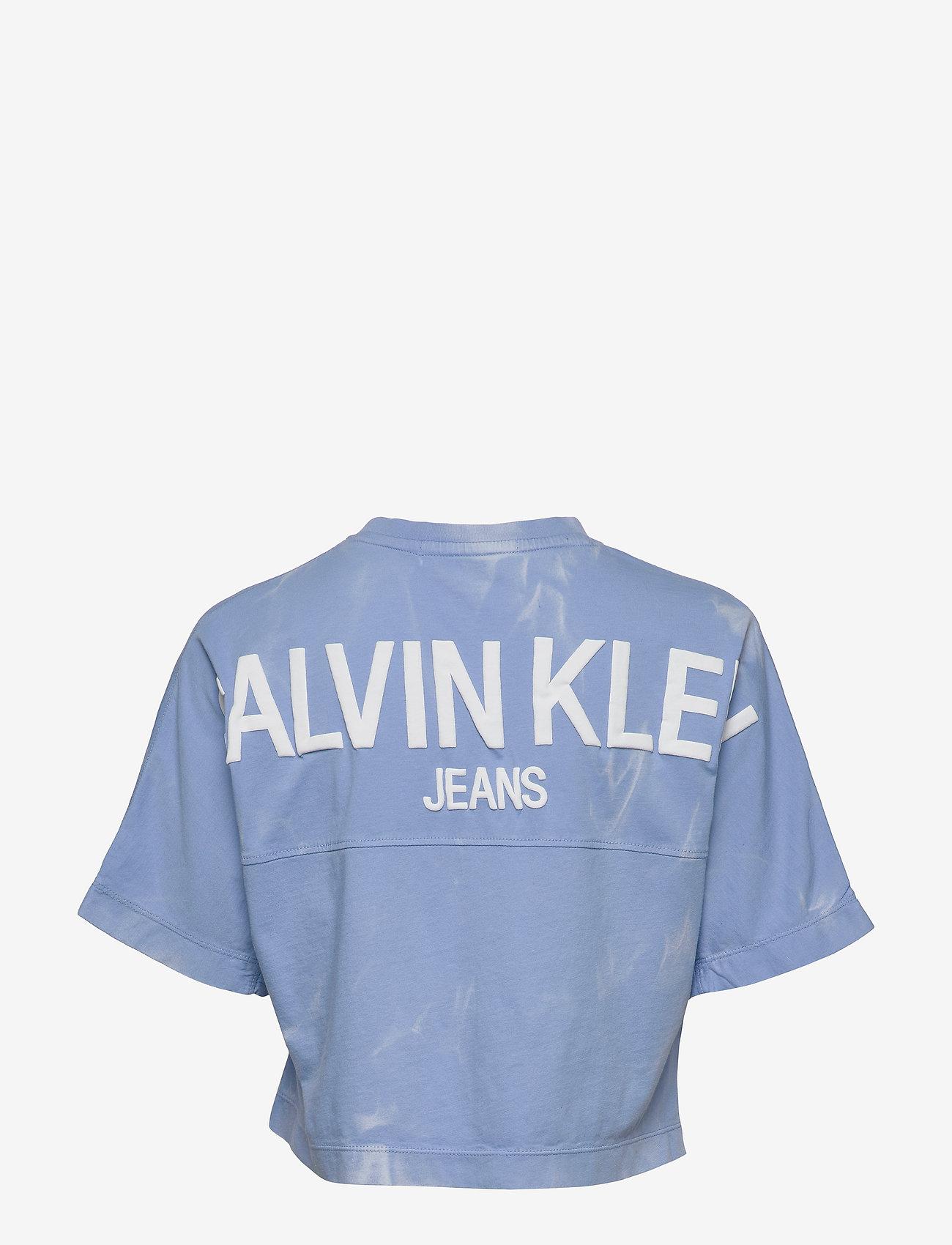 Calvin Klein Jeans - LAVA DYE CROPPED TEE - crop tops - powdery blue - 1