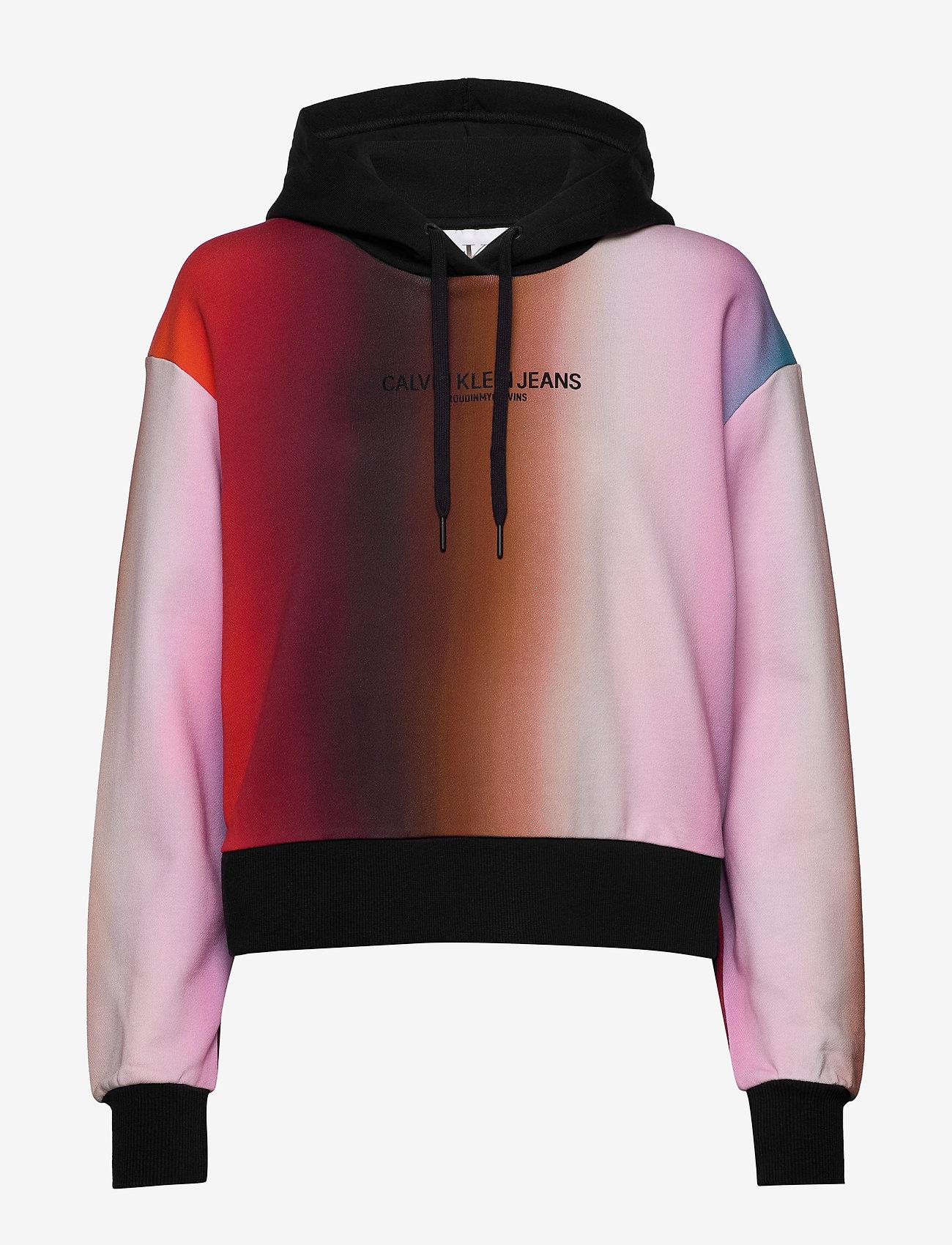 Calvin Klein Jeans - BLUR AOP OVERS - hettegensere - rainbow blur aop