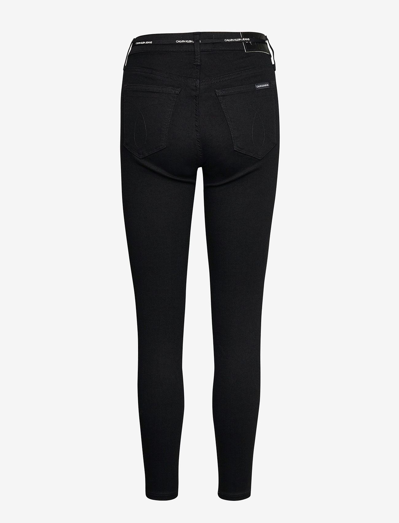 Calvin Klein Jeans - HIGH RISE SUPER SKINNY ANKLE - skinny jeans - bb217 - rinse black lace wb - 1