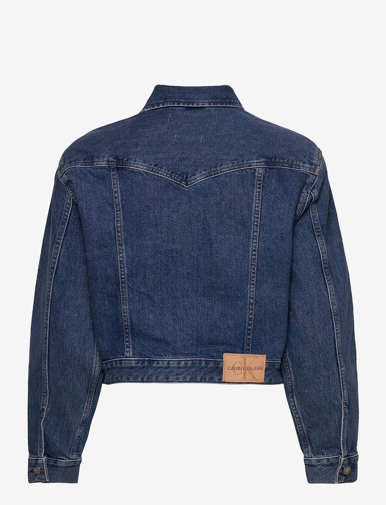 Calvin Klein Jeans - CROPPED FOUNDATION DENIM JACKET - jeansjakker - bb187 - icn mid blue zip - 1