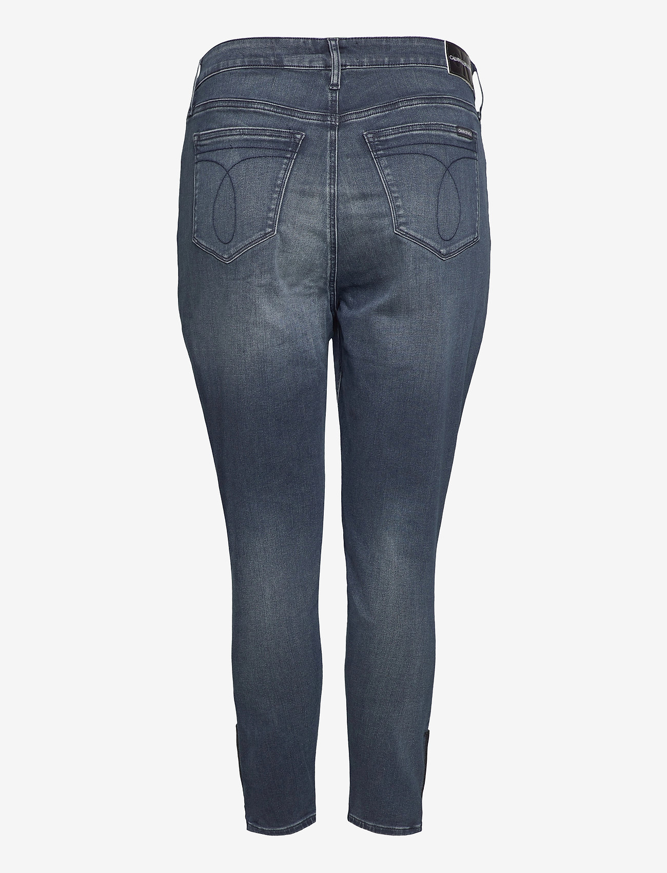 Calvin Klein Jeans - HIGH RISE SKINNY ANKLE - skinny jeans - bb234 - blue black logo zip he - 1