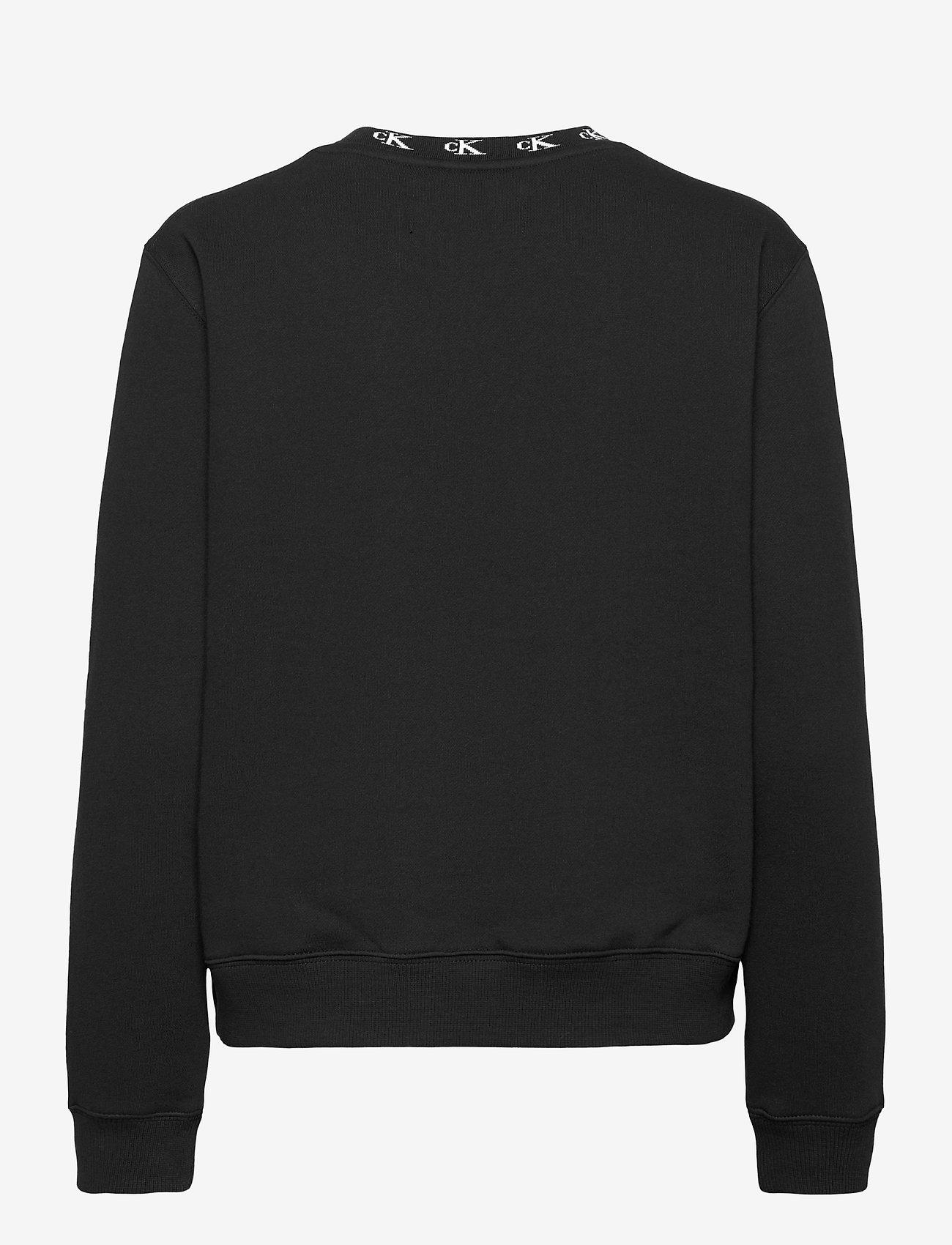 Calvin Klein Jeans - CK LOGO TRIM NECK CN - sweatshirts - ck black - 1