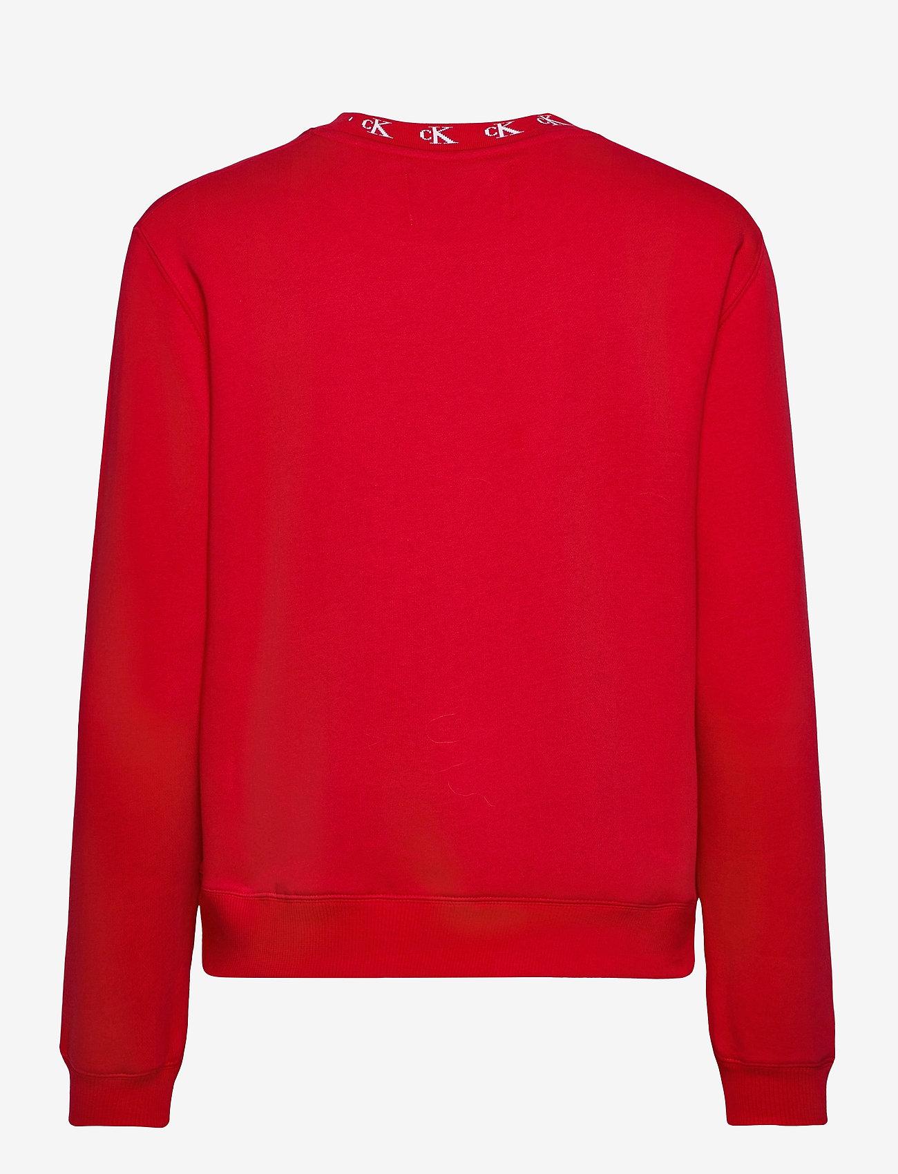 Calvin Klein Jeans - CK LOGO TRIM NECK CN - sweatshirts - red hot - 1