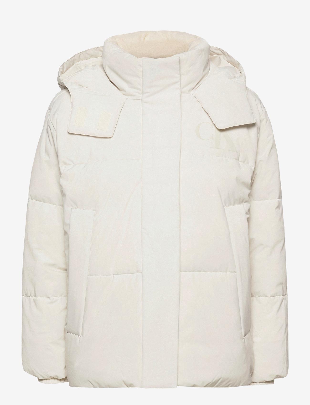 Calvin Klein Jeans - CK ECO PUFFER JACKET - fôrede jakker - soft cream - 1