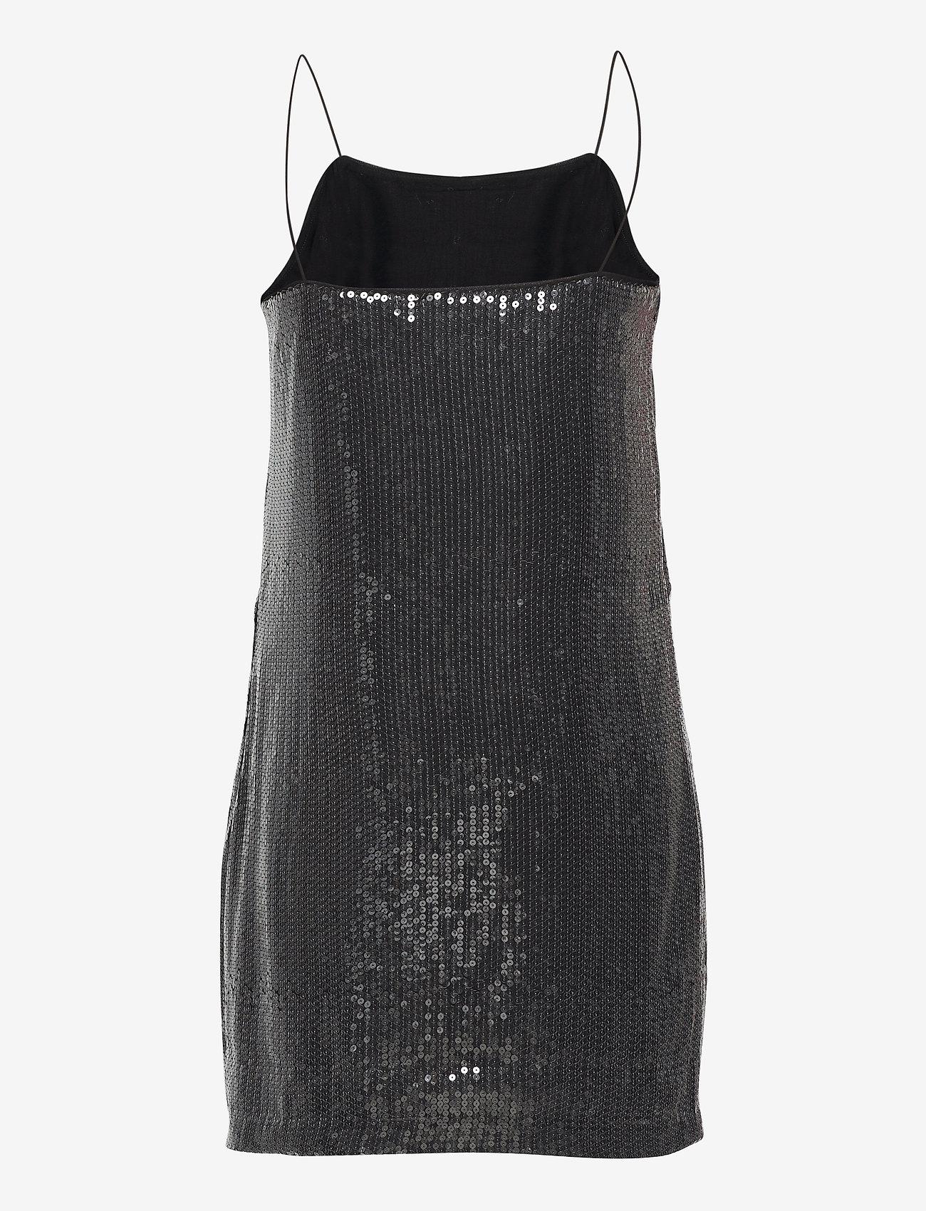 Calvin Klein Jeans - SEQUIN LOGO STRAP DRESS - festkjoler - ck black - 1