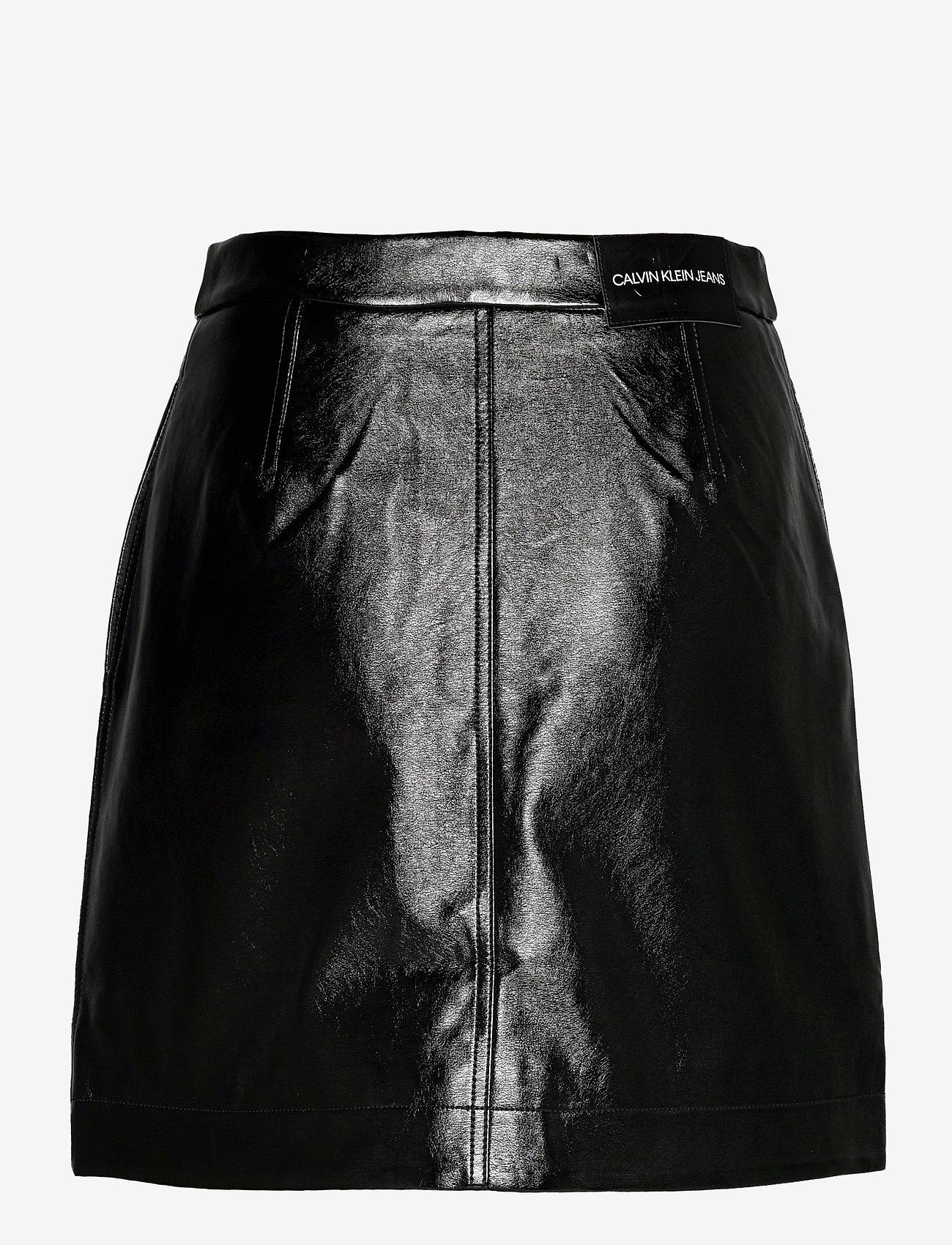 Calvin Klein Jeans - HIGH SHINE MINI SKIRT - kort skjørt - ck black - 1