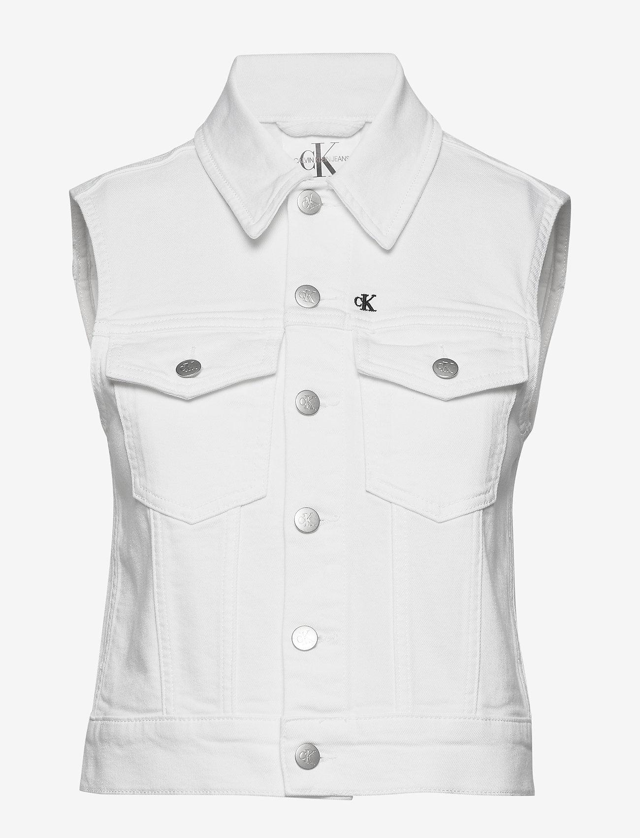 Calvin Klein Jeans - DENIM VEST - vester - denim white - 0