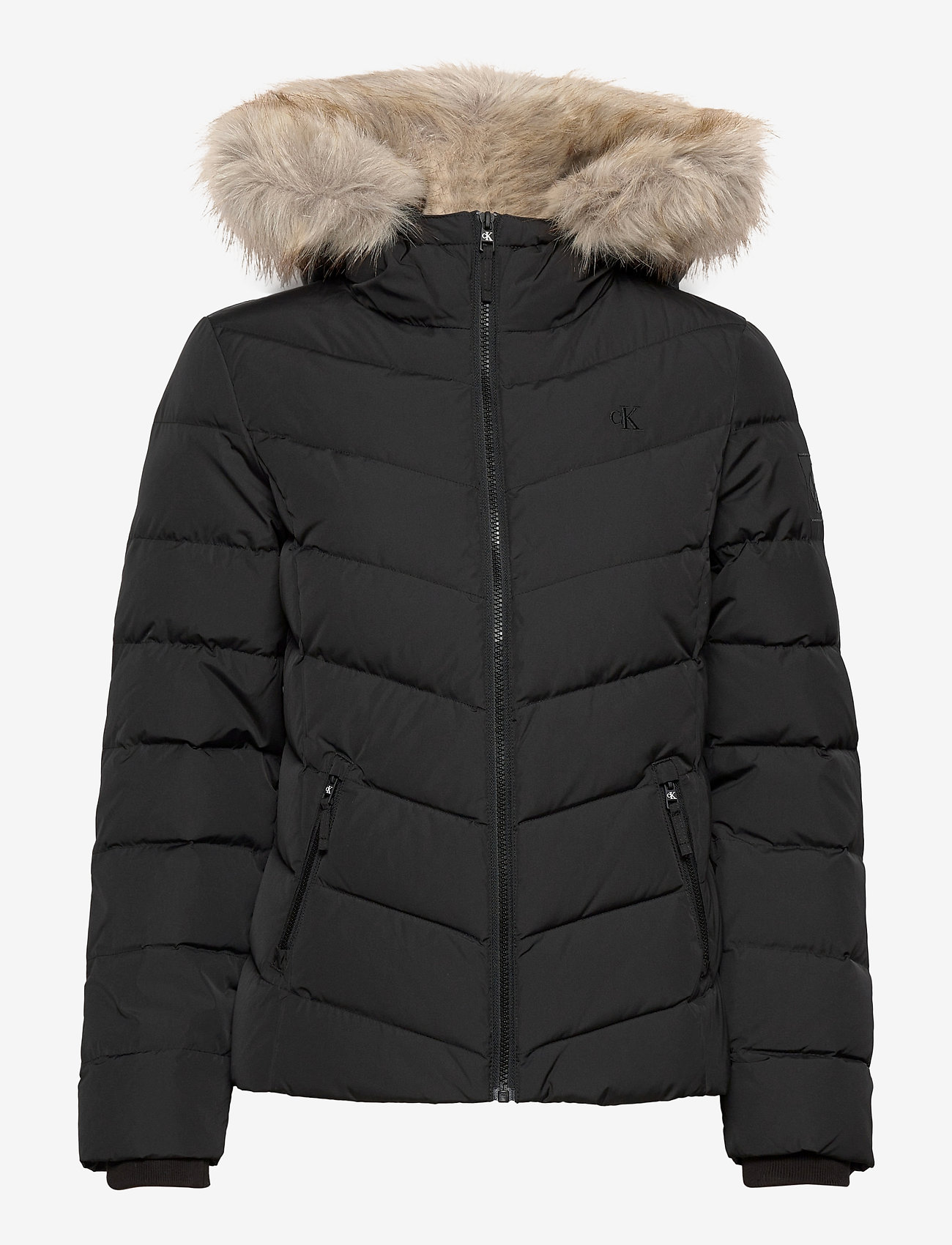 Calvin Klein Jeans - SHORT DOWN FITTED PUFFER - down- & padded jackets - ck black - 1