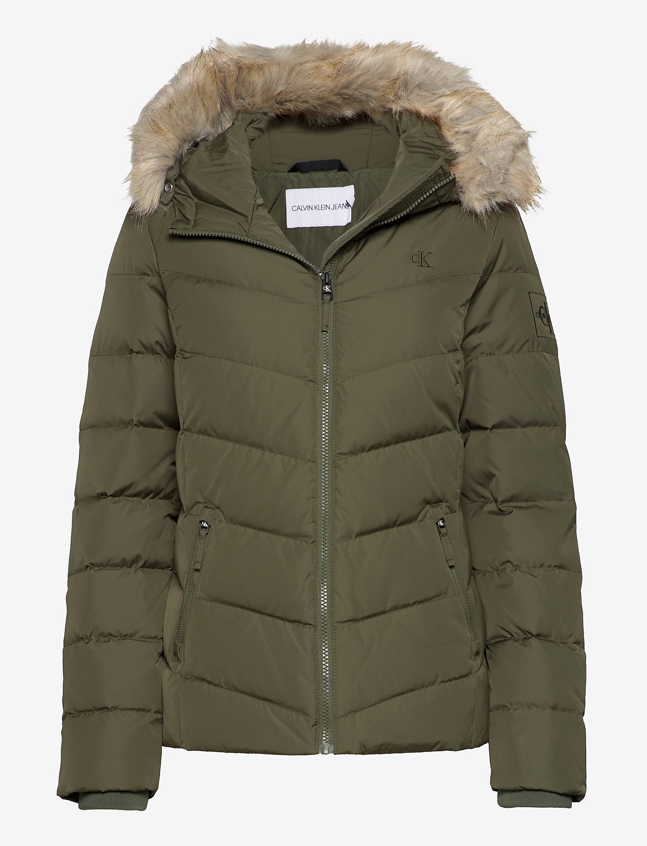 Calvin Klein Jeans - SHORT DOWN FITTED PUFFER - fôrede jakker - deep depths - 0